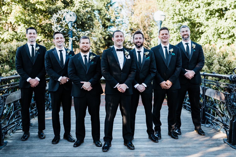 black tuxedo wedding in Frederick Maryland - McClintock Distillery wedding - photo and video