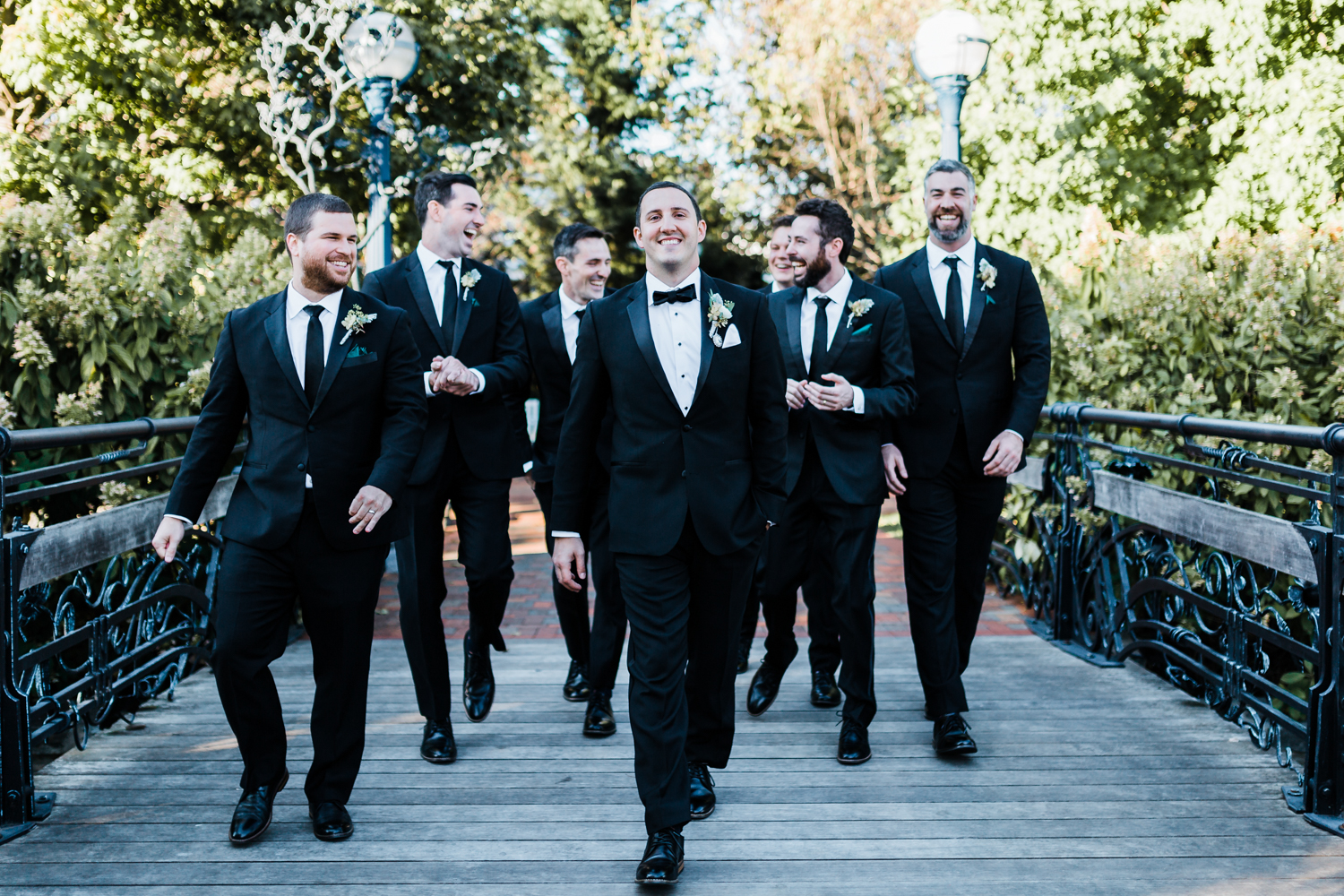 handsome groom with his groomsmen - Fall wedding inspo