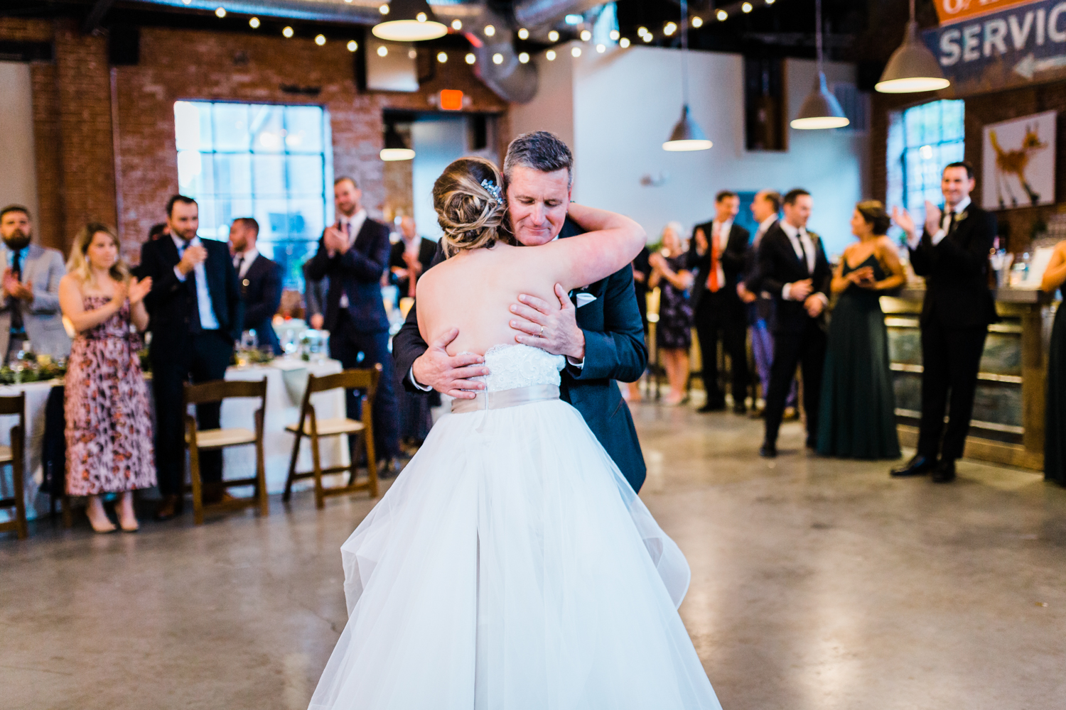 Father and bride dance together - Modern Distillery venue in Frederick MD