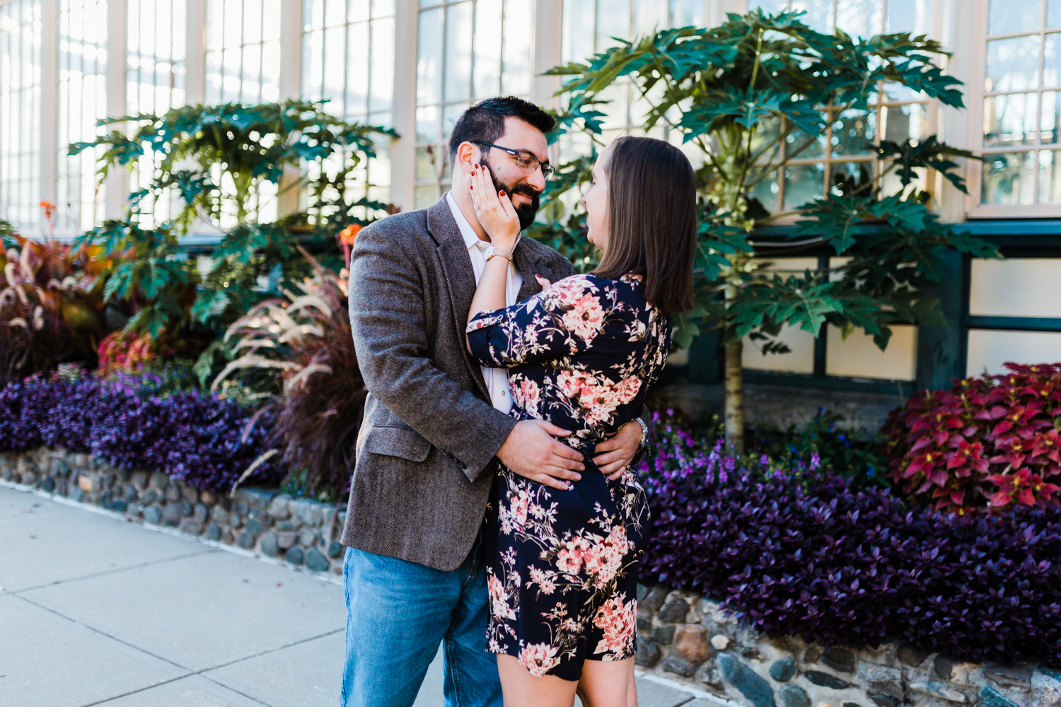 Sweet engagement session at Rawlings Conservatory - top rated engagement photographer in MD