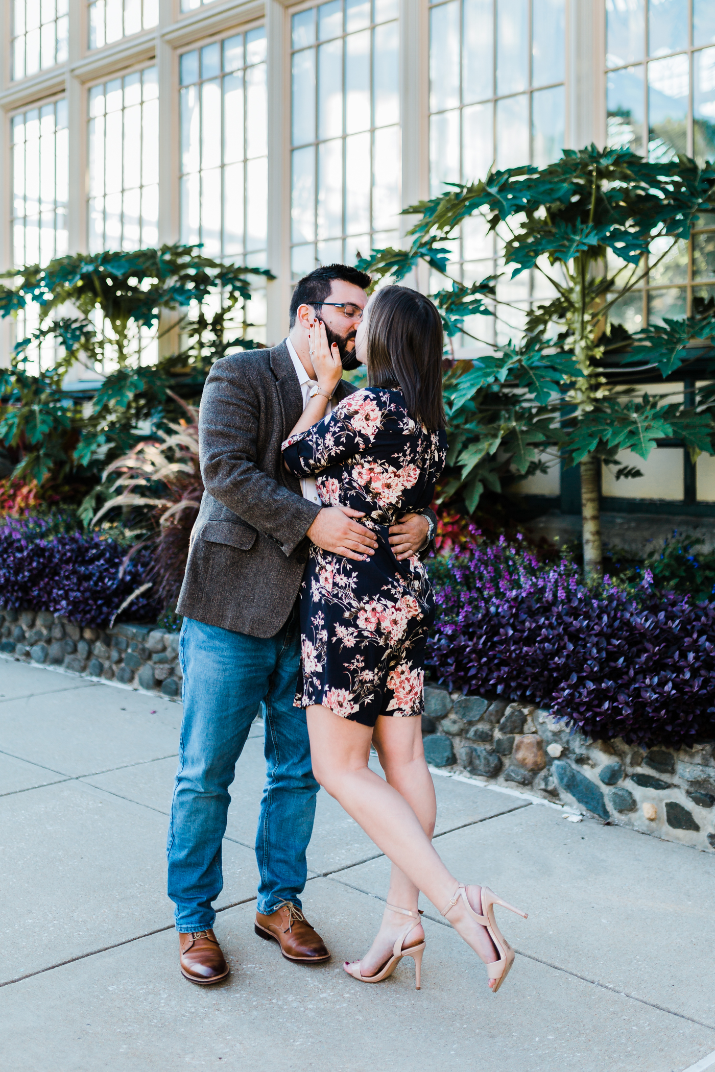 beautiful conservatory engagement session in Baltimore Maryland - best candid photographer in Maryland