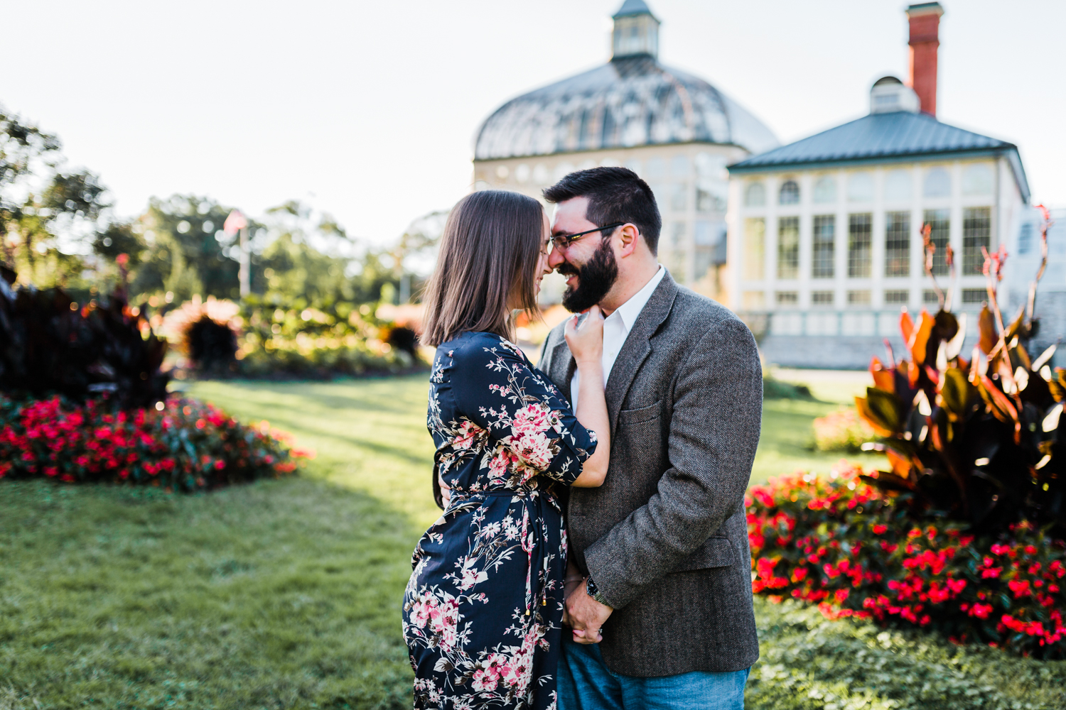 Engagement session at Rawlings Conservatory in Baltimore Maryland - best photographer in MD