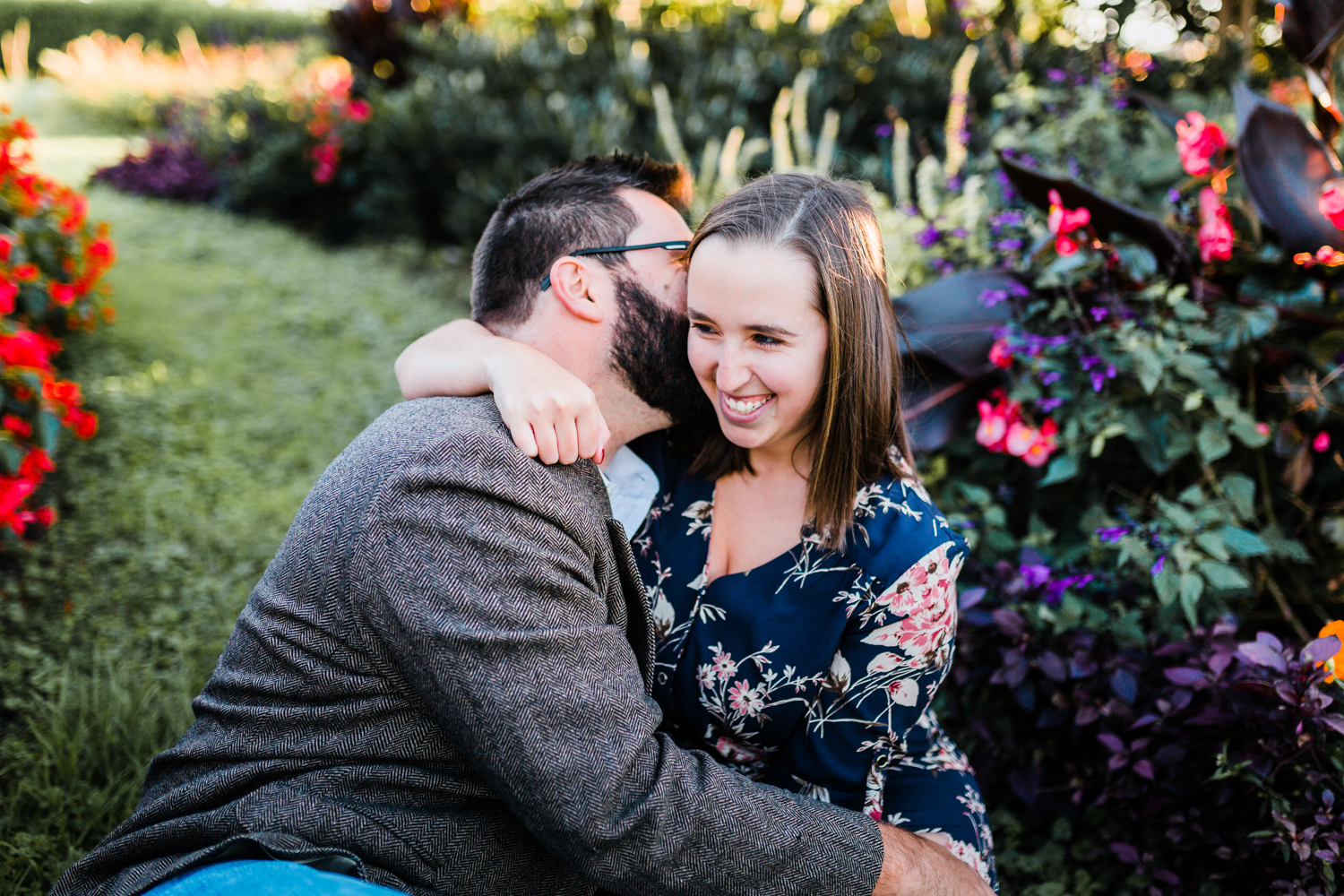 romantic engagement session at Rawlings Conservatory in Baltimore MD - best romantic photographer in Maryland