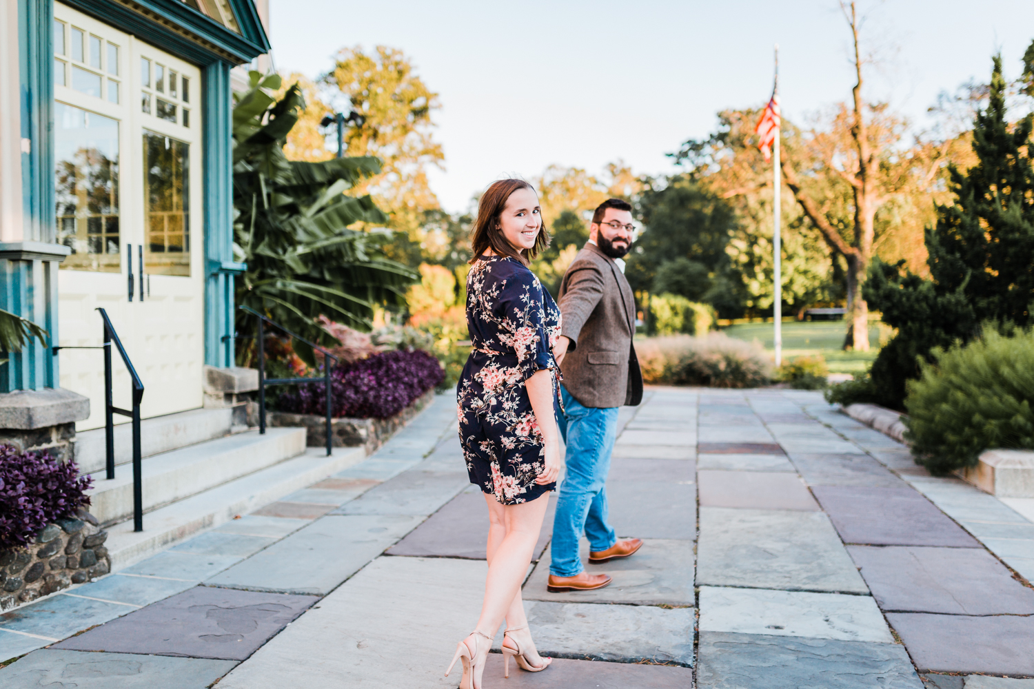 Engagement session at Rawlings Conservatory in Baltimore MD - best engagement photographer in Maryland