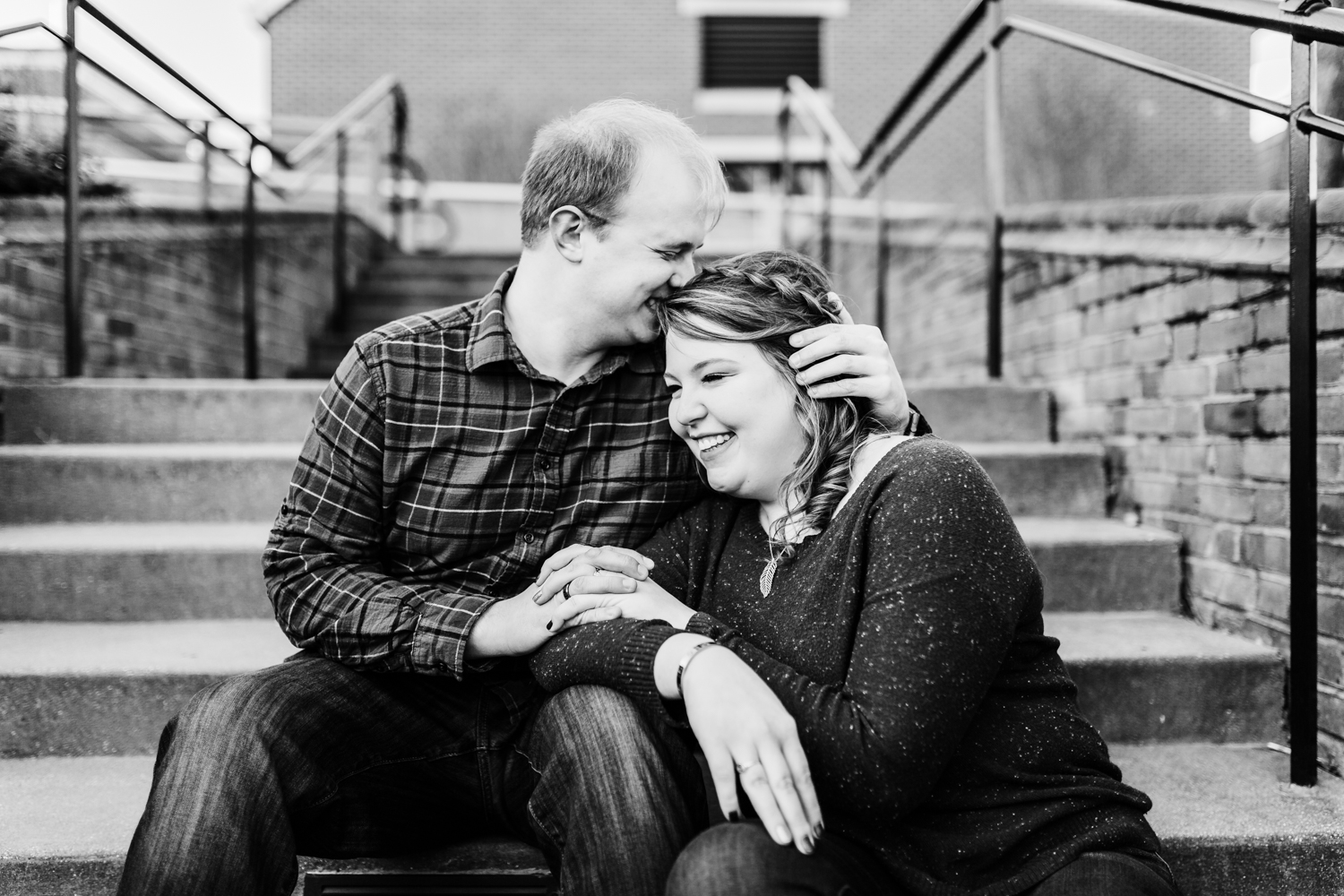 Sweet couple sharing intimate moment - best photographer in Frederick, MD