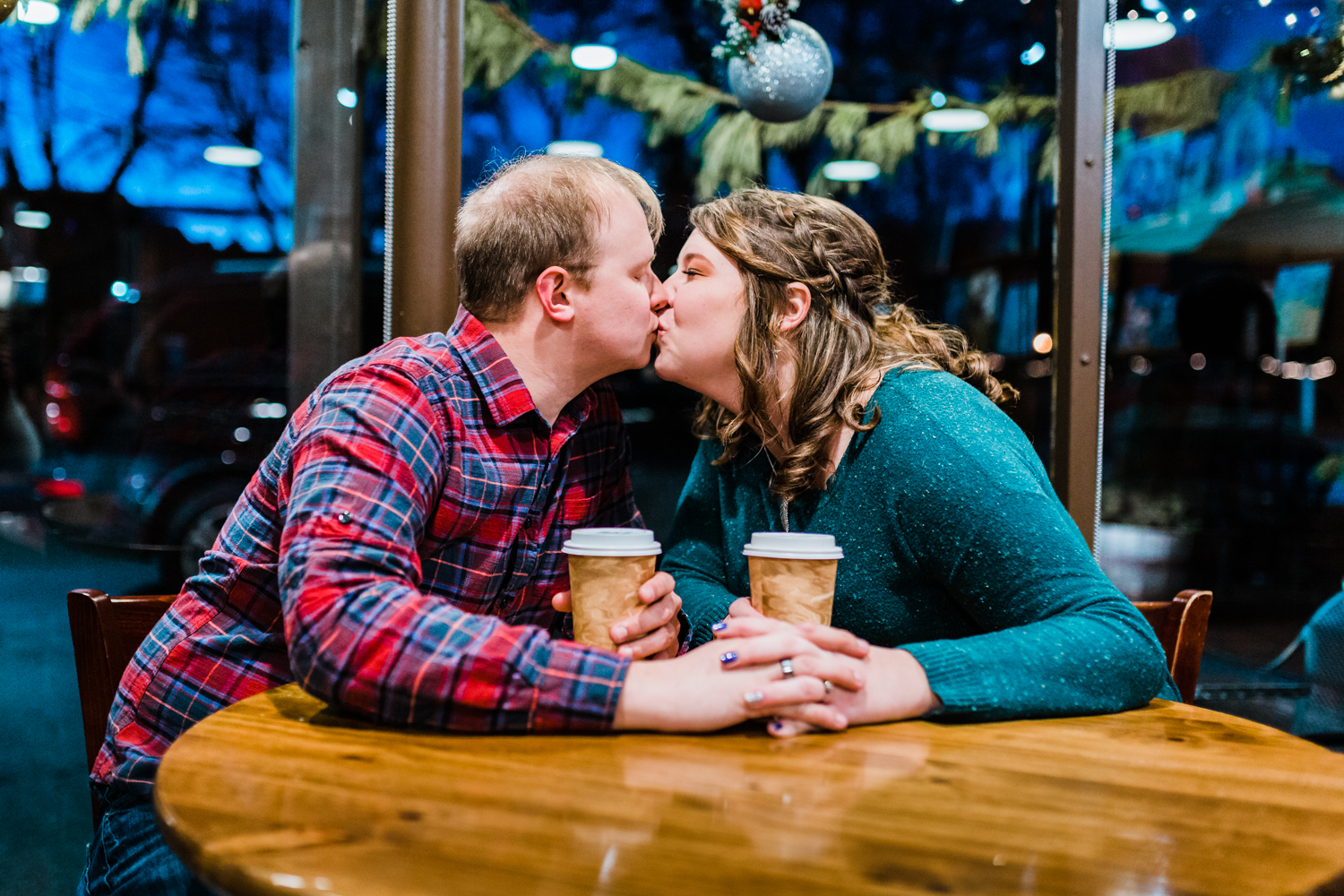 Frederick Maryland Downtown coffee shops - engagement sessions in coffee shop inspo - MD wedding photo and video