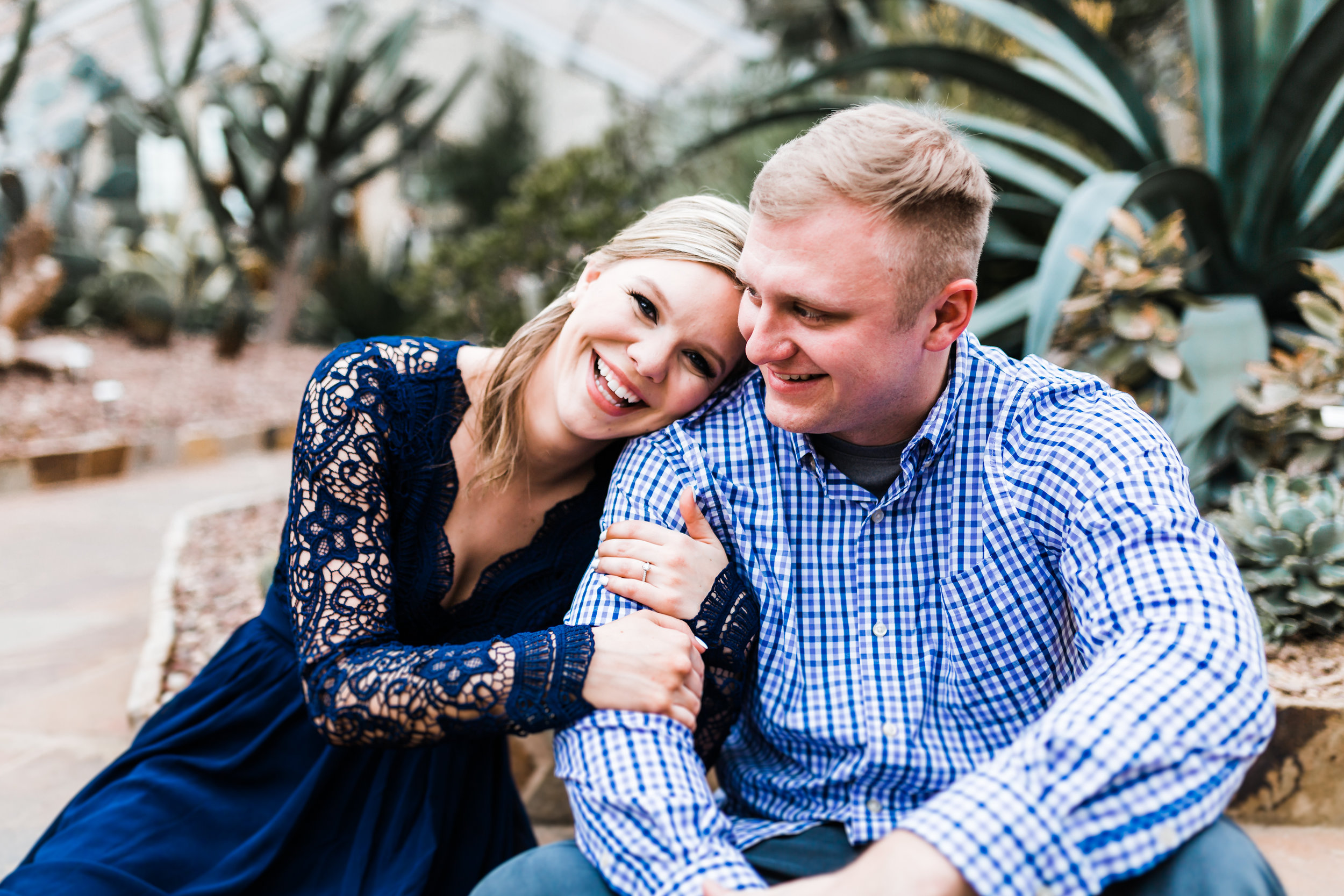 Romantic engagement session couple laughing - top rated candid photography in Maryland