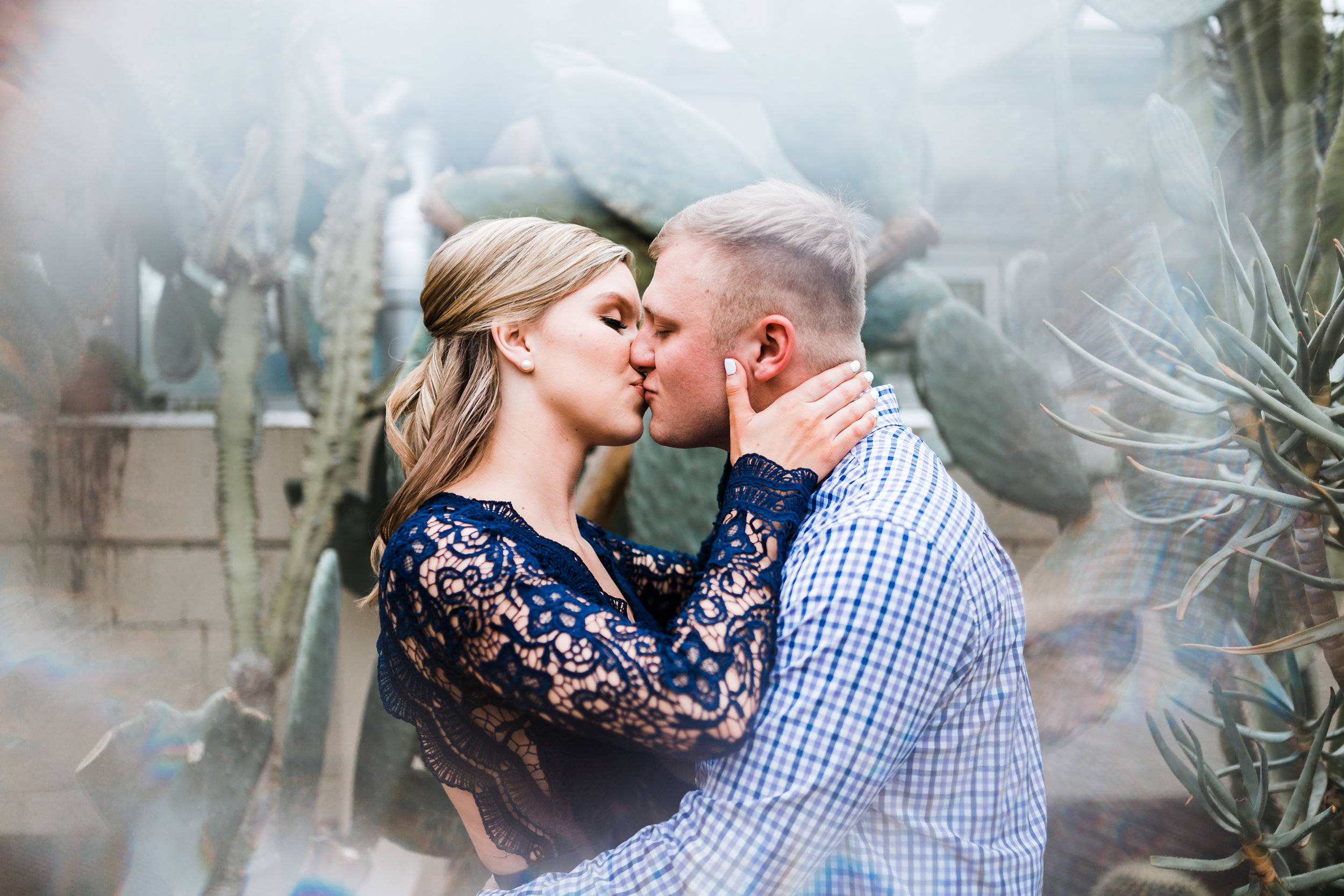 Romantic engagement session at Rawling Conservatory - best candid wedding photographer in Maryland