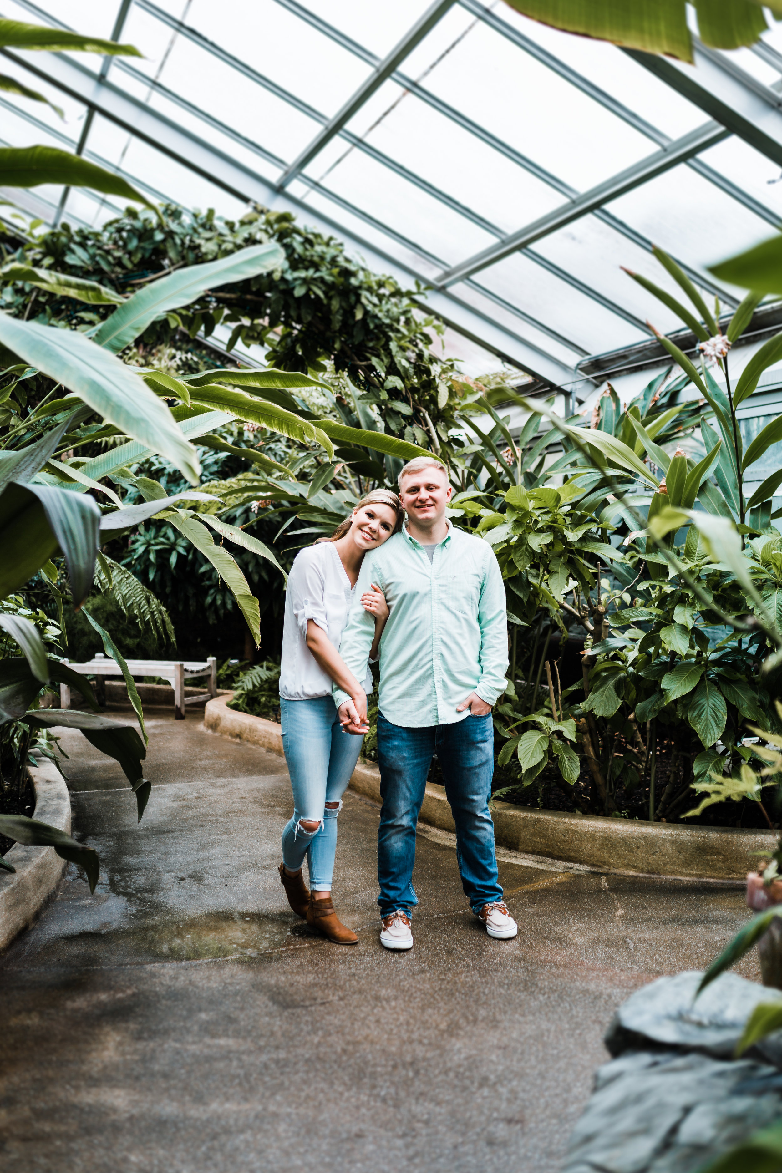 green house engagement session in Maryland - best husband and wife photography team in MD