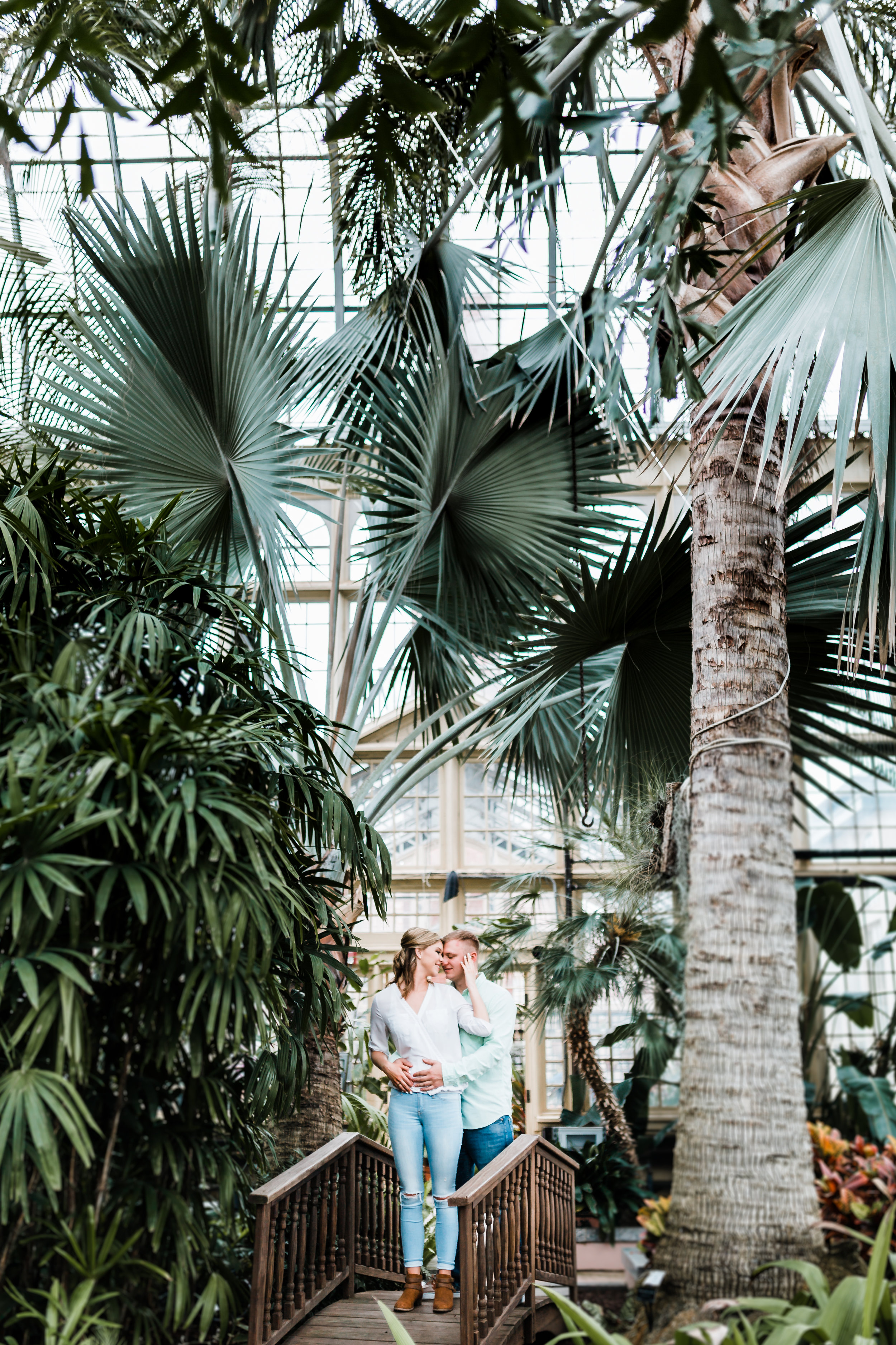 green house engagement session - top rated photography in Maryland