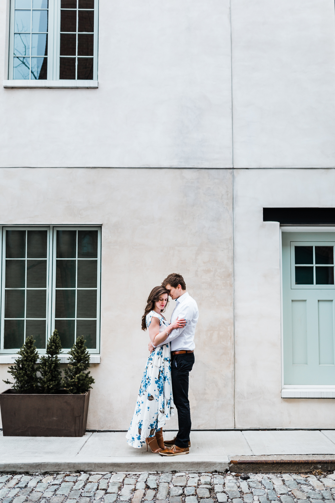 floral maxi dress engagement outfit inspo - Baltimore Maryland