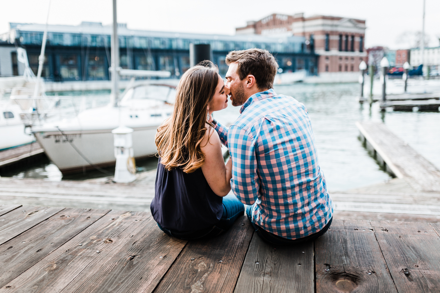 nautical Fells Point engagement session ideas - best locations in Baltimore for an engagement session