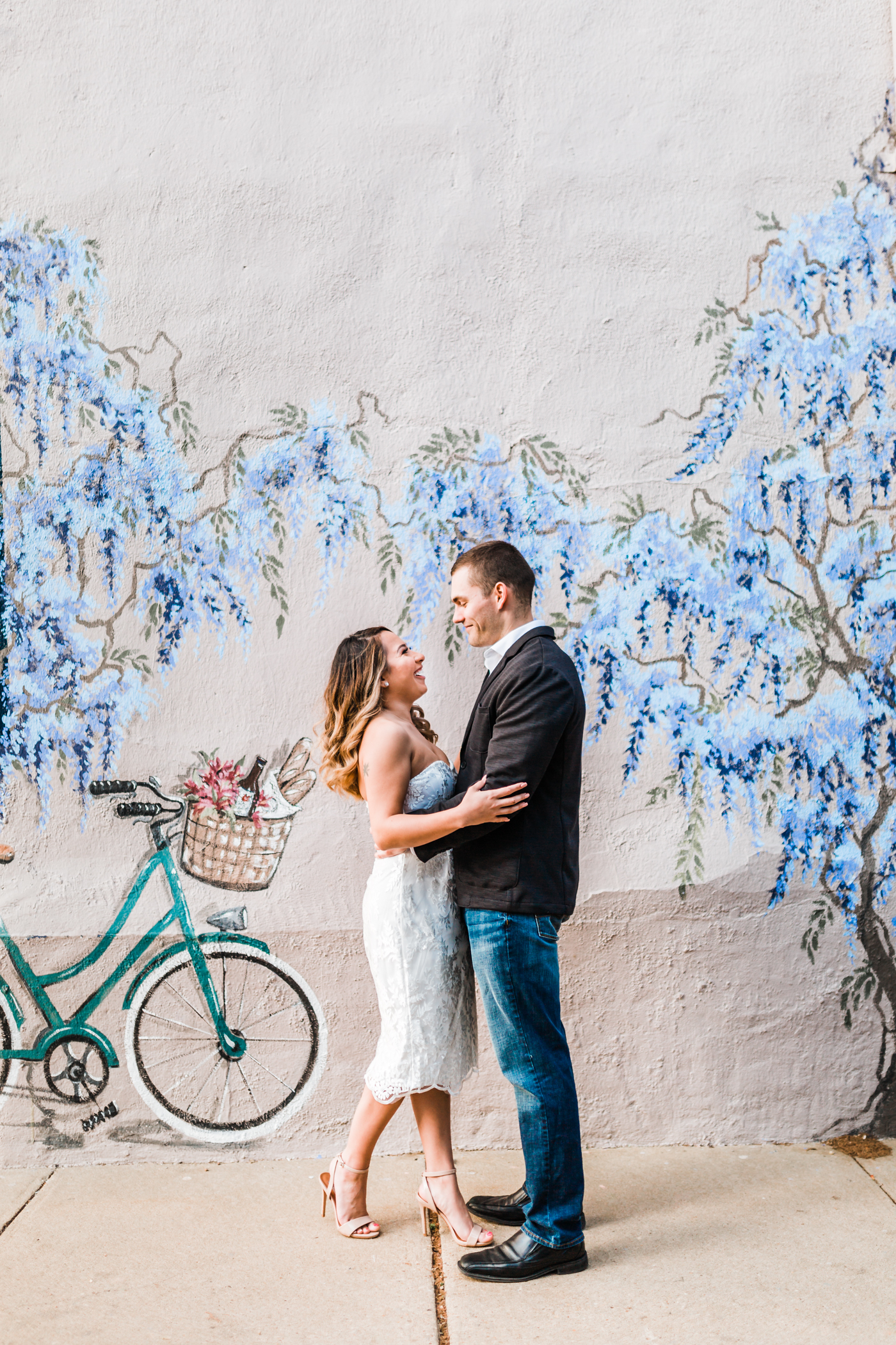 adorable couple laughing together in annapolis, md - best wedding and engagement photographer and videographer in Annapolis