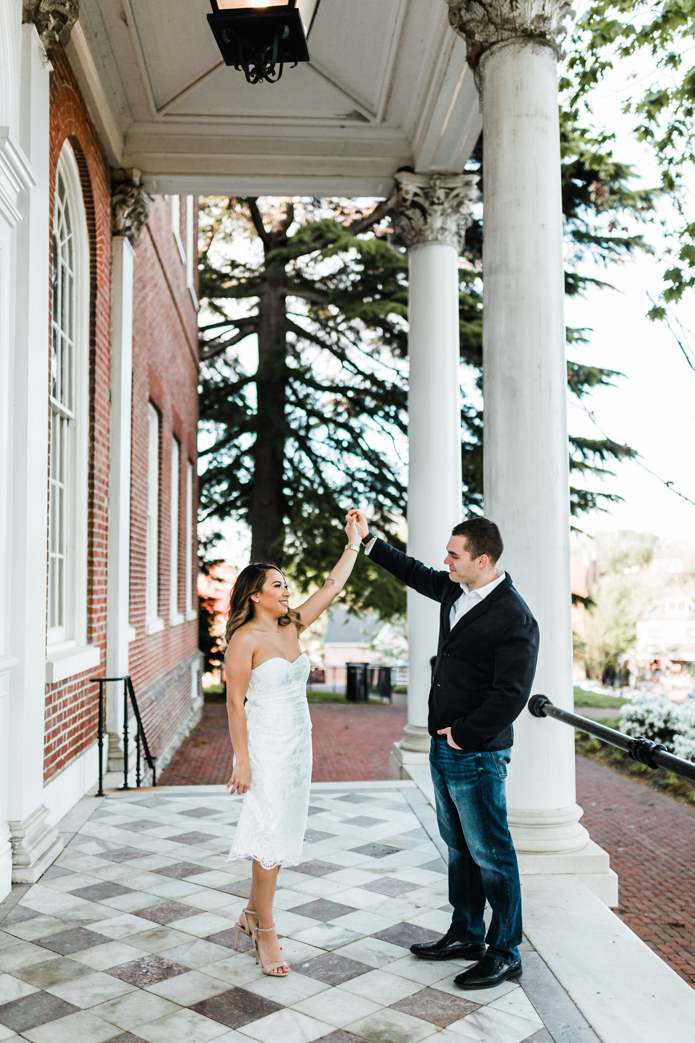 husband and wife photo video team in Annapolis, Maryland - dancing couple in Annapolis