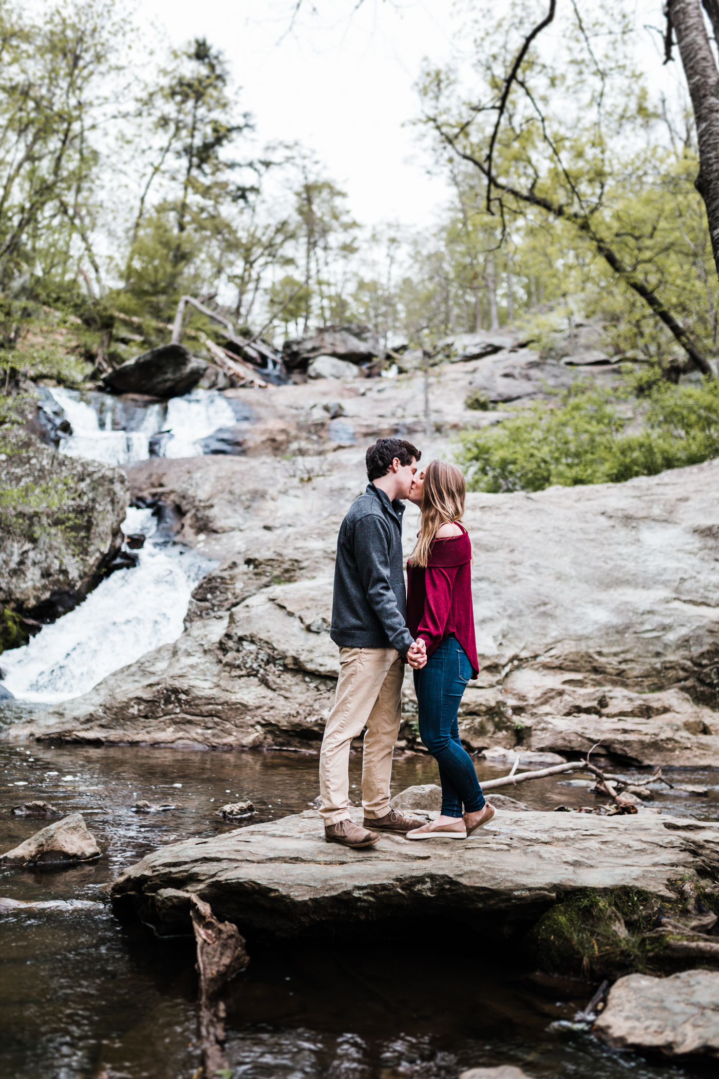 waterfall engagement sessions in maryland - five star wedding photographer in MD