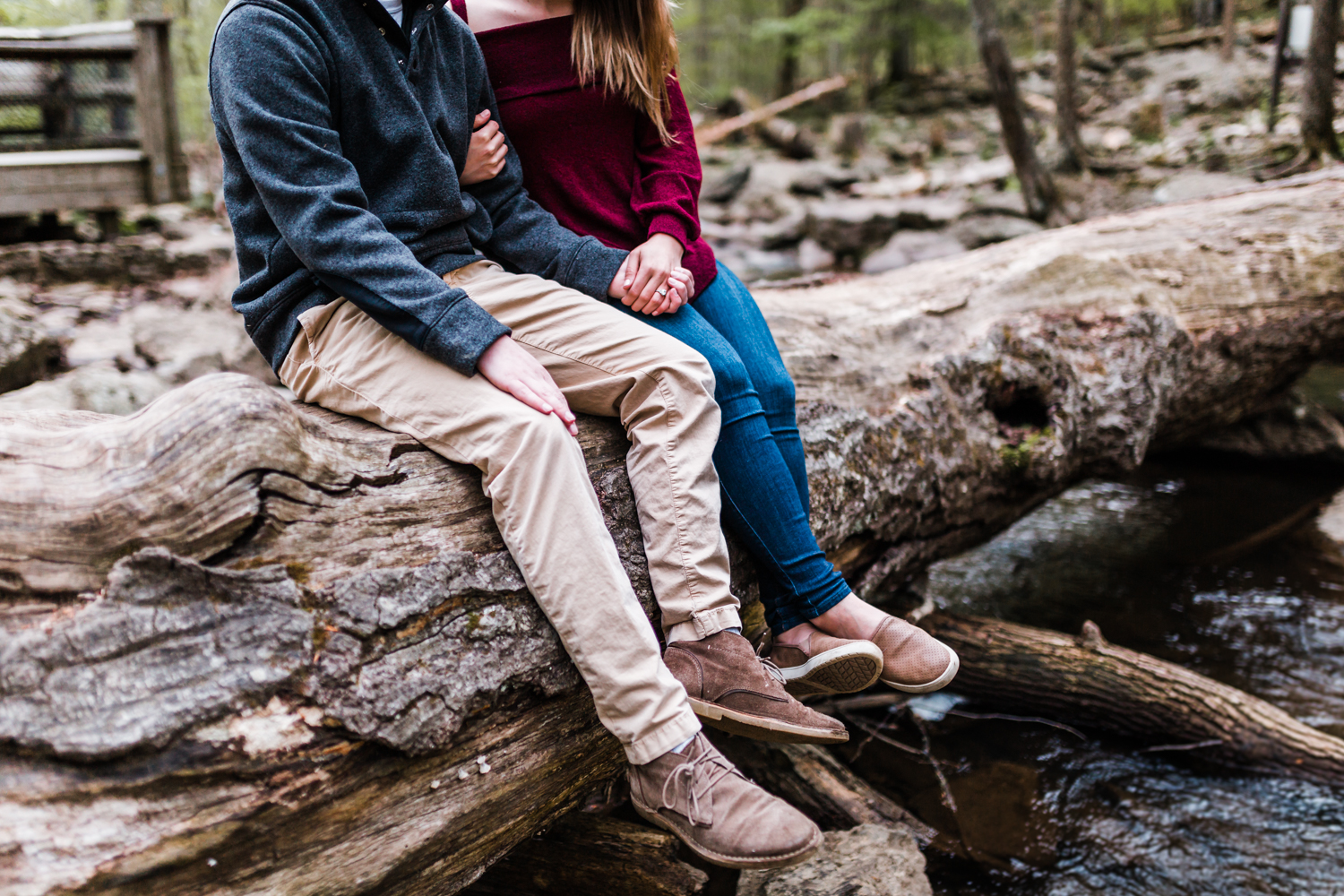 woodsy engagement session in thurmont, md - engagement locations close to frederick maryland