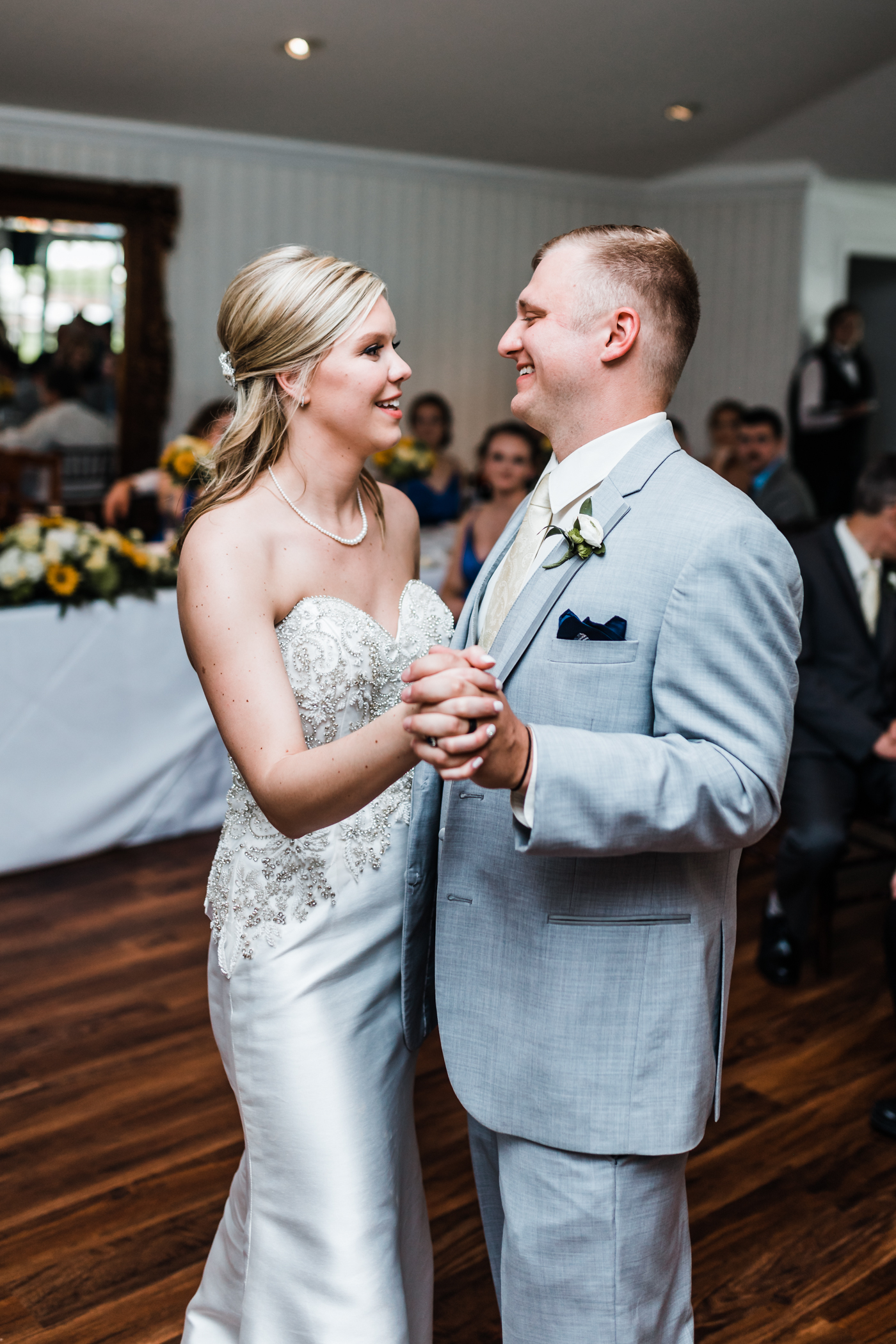 bride and groom share their first dance at Antrim 1844 - best maryland wedding photography and videography