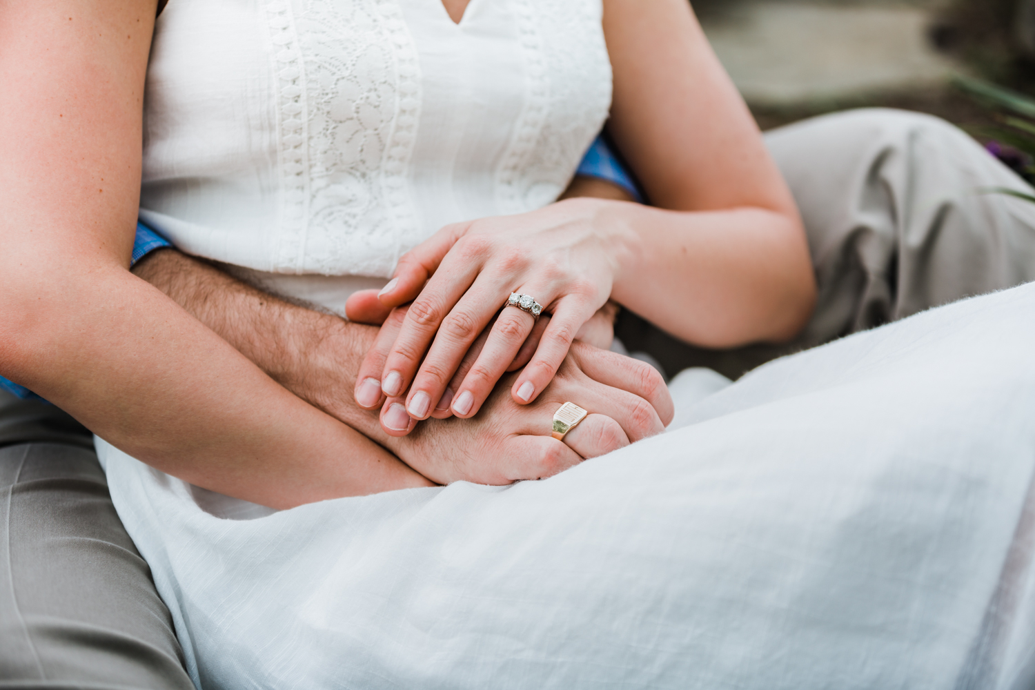 three stone engagement ring ideas - family rings - ellicott city md engagement photography