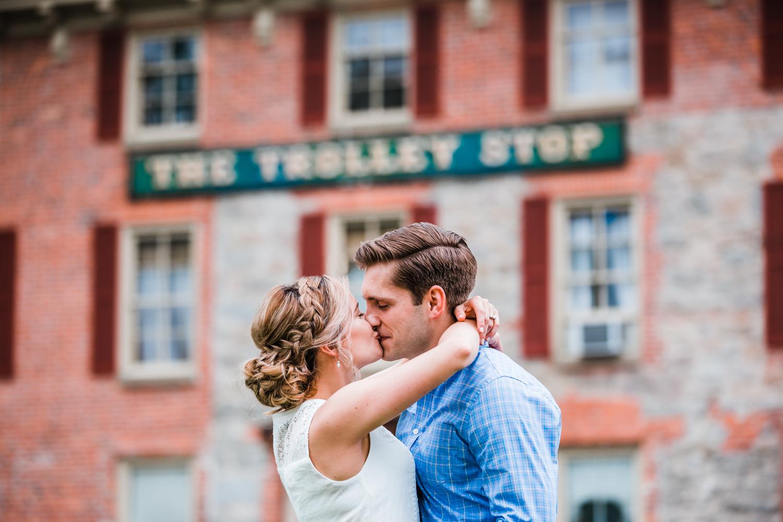 couple kissing in Ellicott City, MD - best photographer near Ellicott City