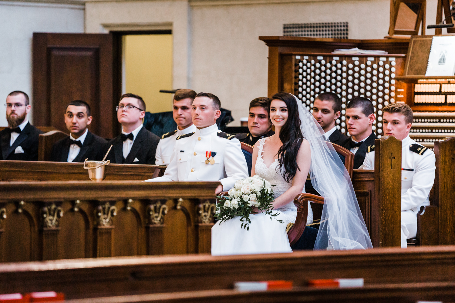 bride and groom at their wedding ceremony in Annapolis, Maryland