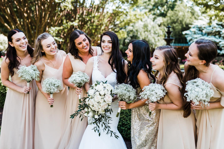 beige and gold wedding color scheme - maryland wedding photographer