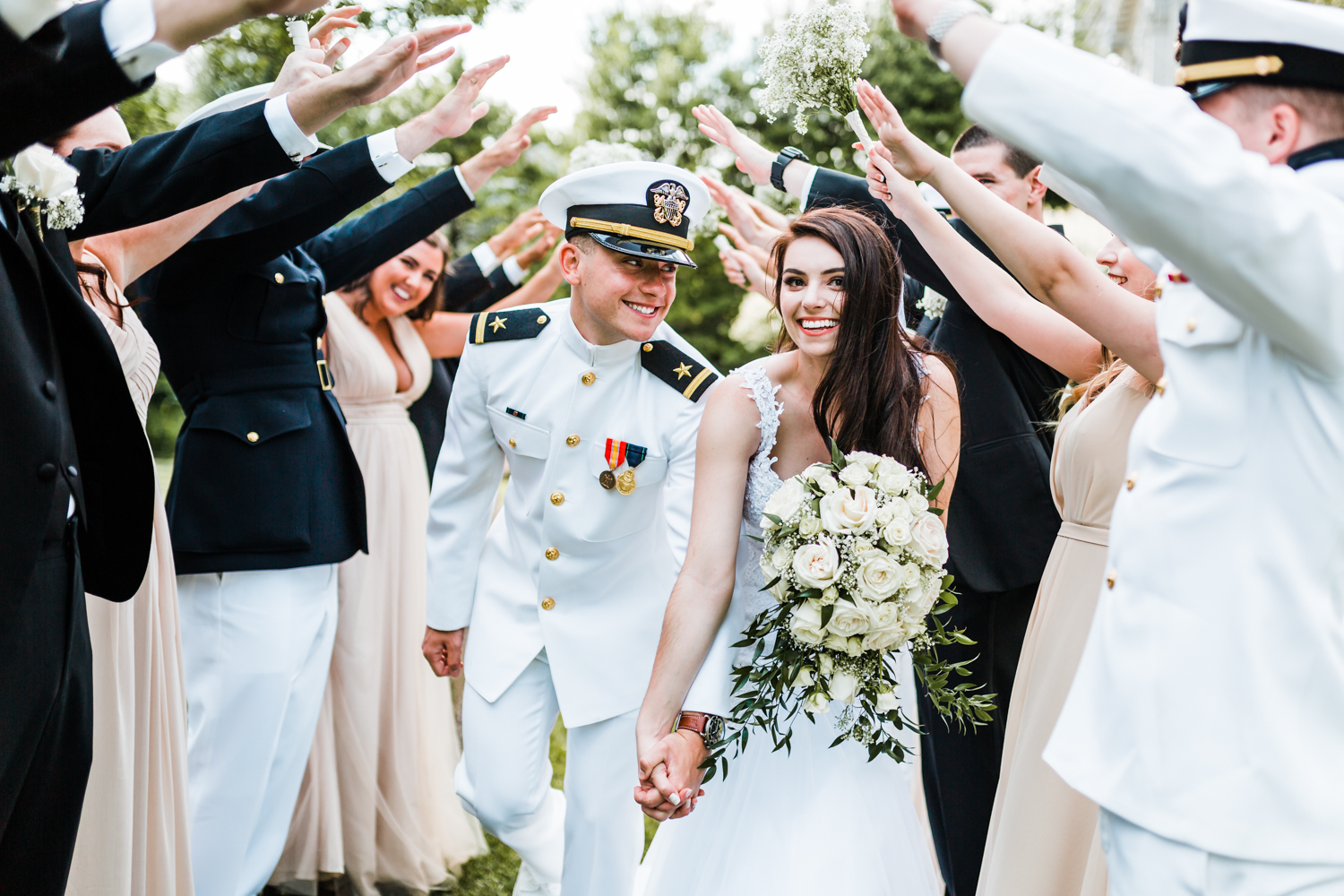 best wedding photo and video in annapolis, md - fun bridal party photos