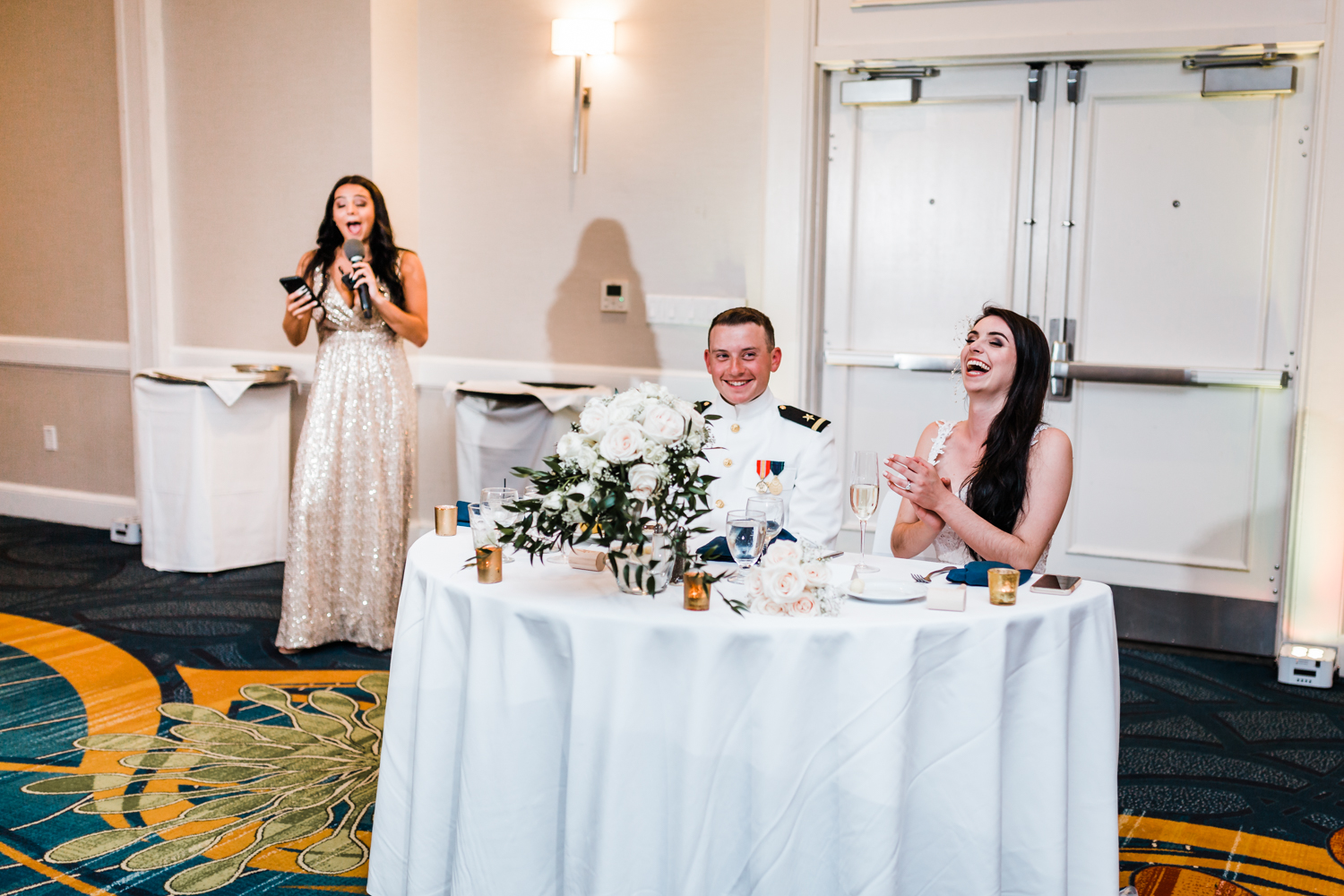 hilarious maid of honor toast at annapolis waterfront hotel