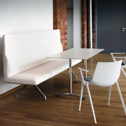Insit upholstered bench with backrest