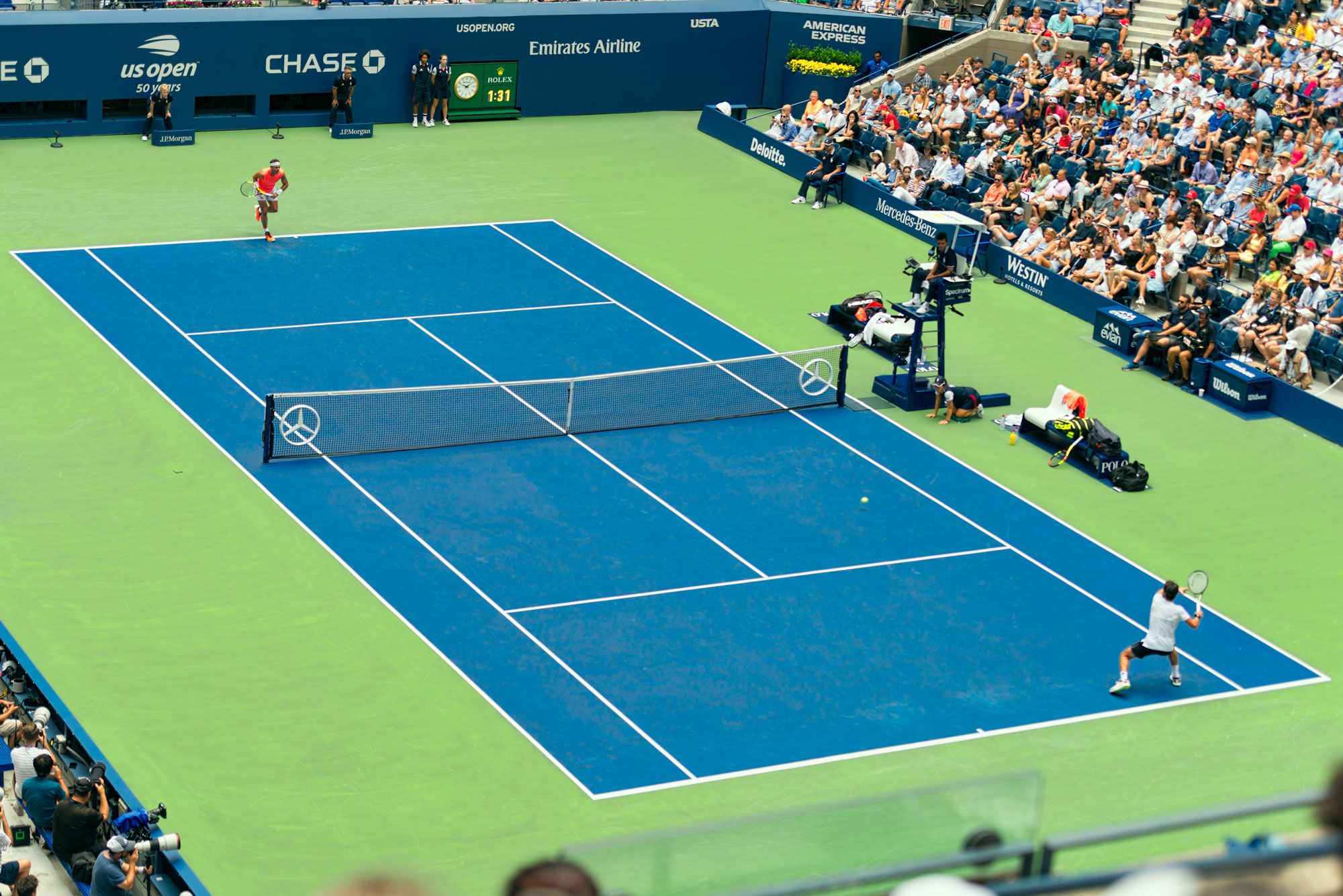 Nadal vs Basilashvili, round of 16 at the US Open