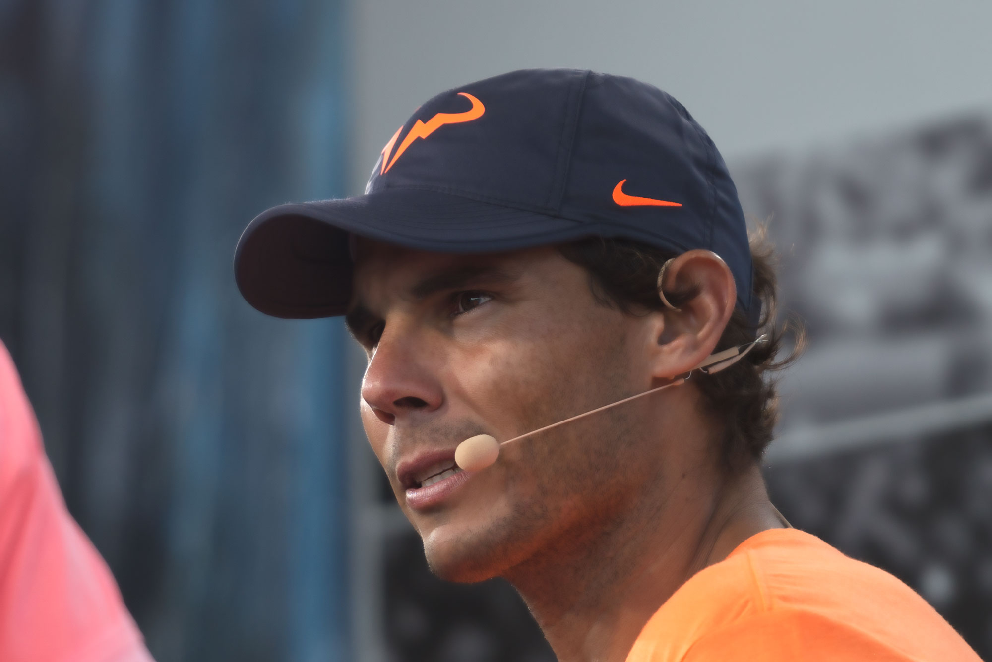 Nadal at the post match interview