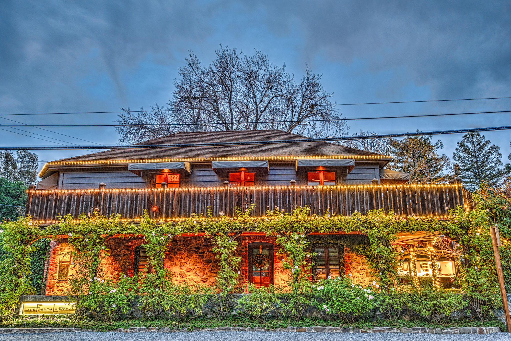 The French Laundry at sunset