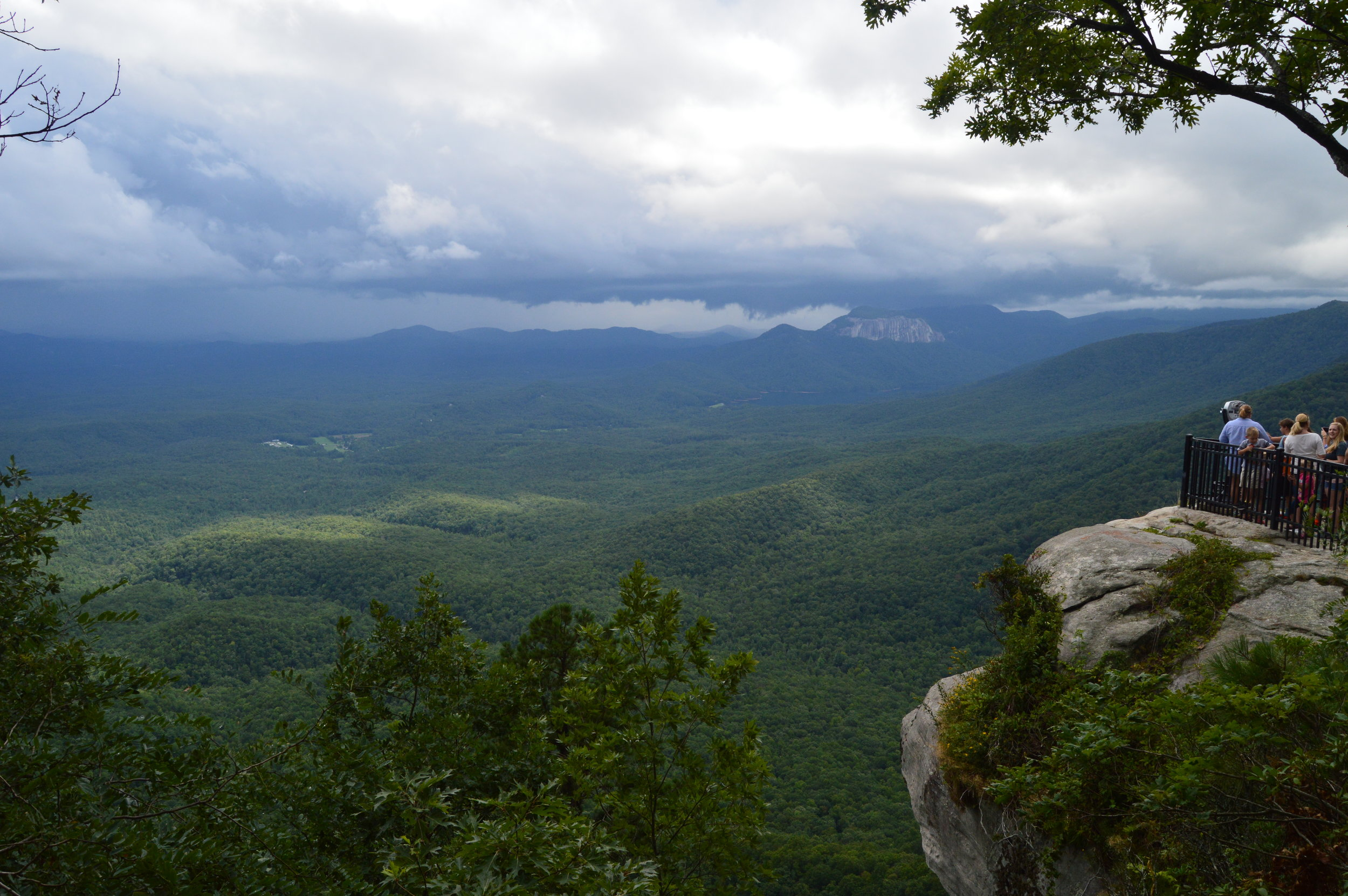 - Caesar's Head State Park north of Greenville provides unparalleled views of the foothills of South Carolina.