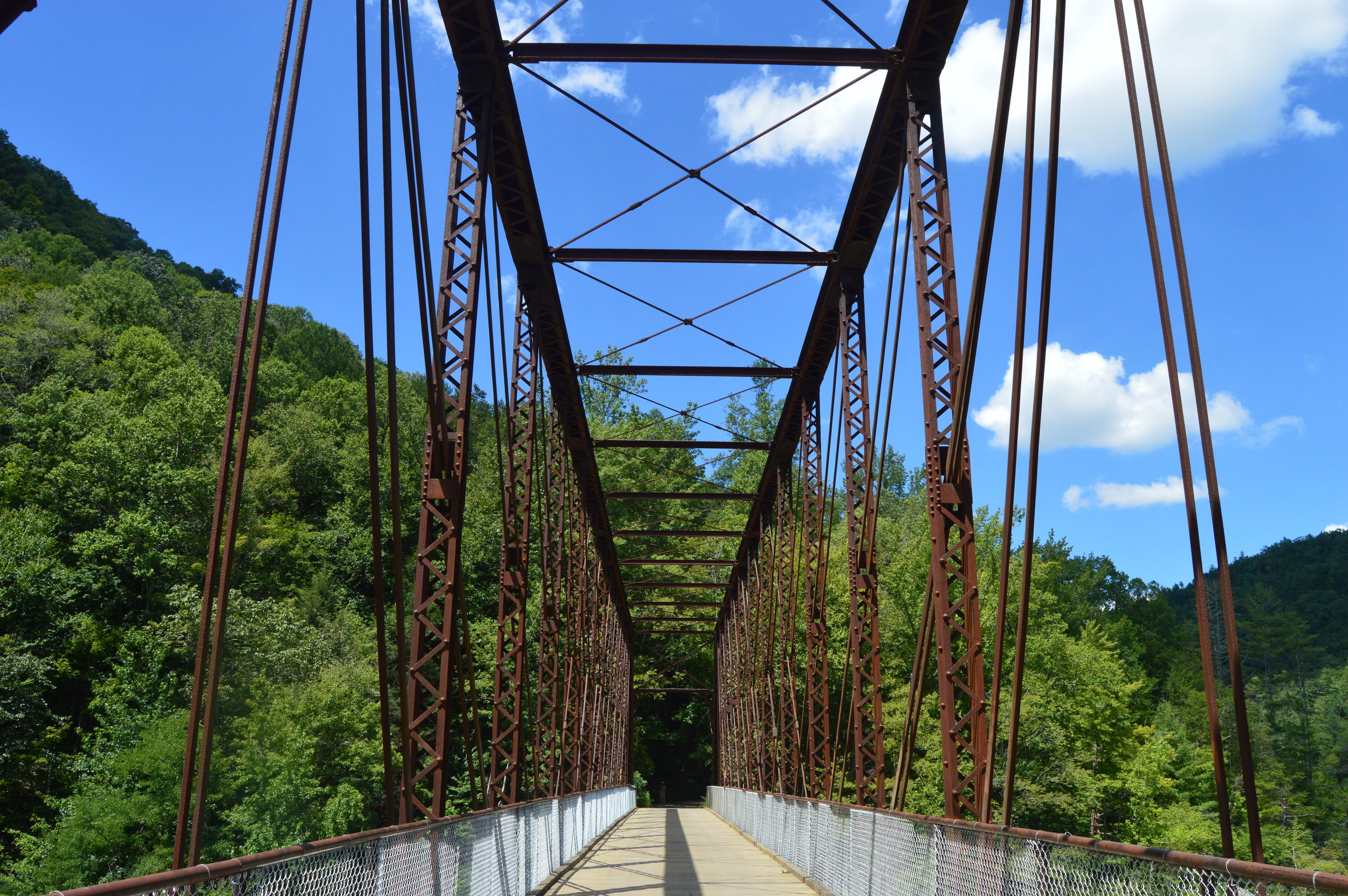 The O&W Bridge inside Big South Fork NRRA was built in the early 1900's to transport lumber and coal in the region.
