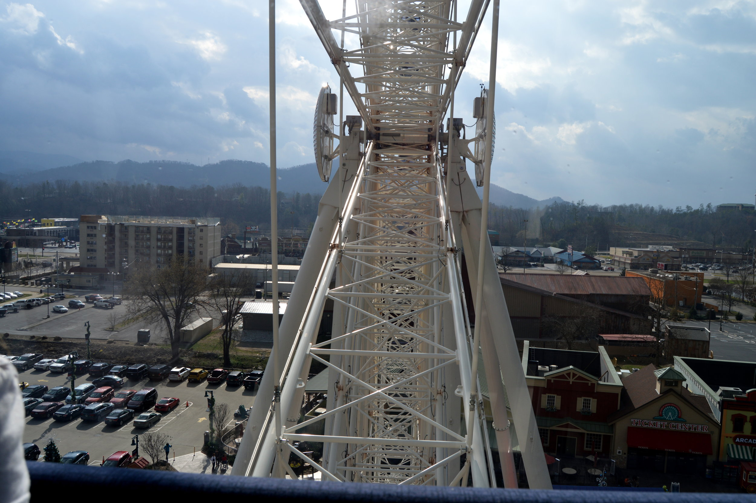 The Great Smoky Mountain Wheel is 200 feet high.