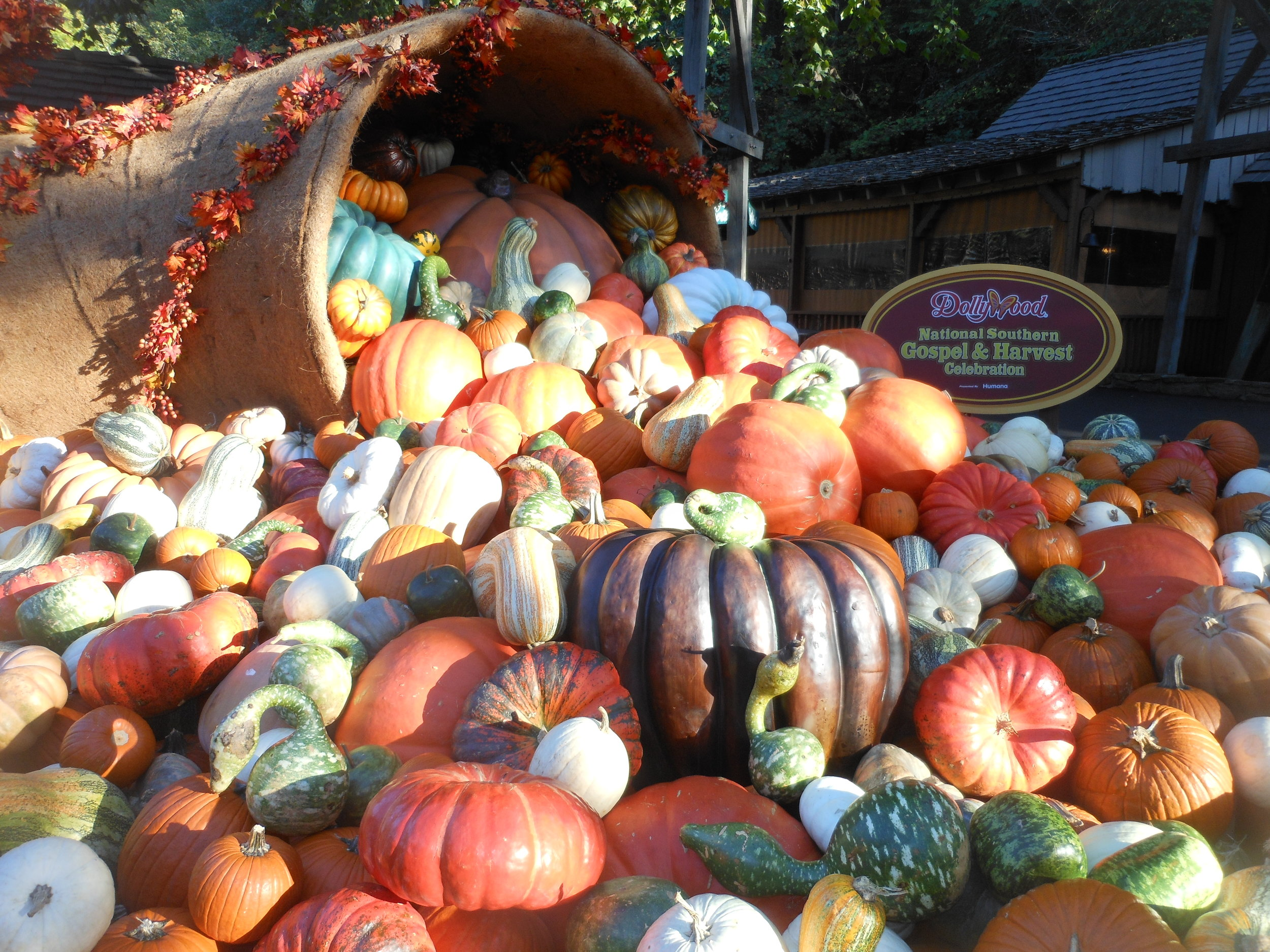 During the Harvest Festival the park is filled with wonderful displays like this one.
