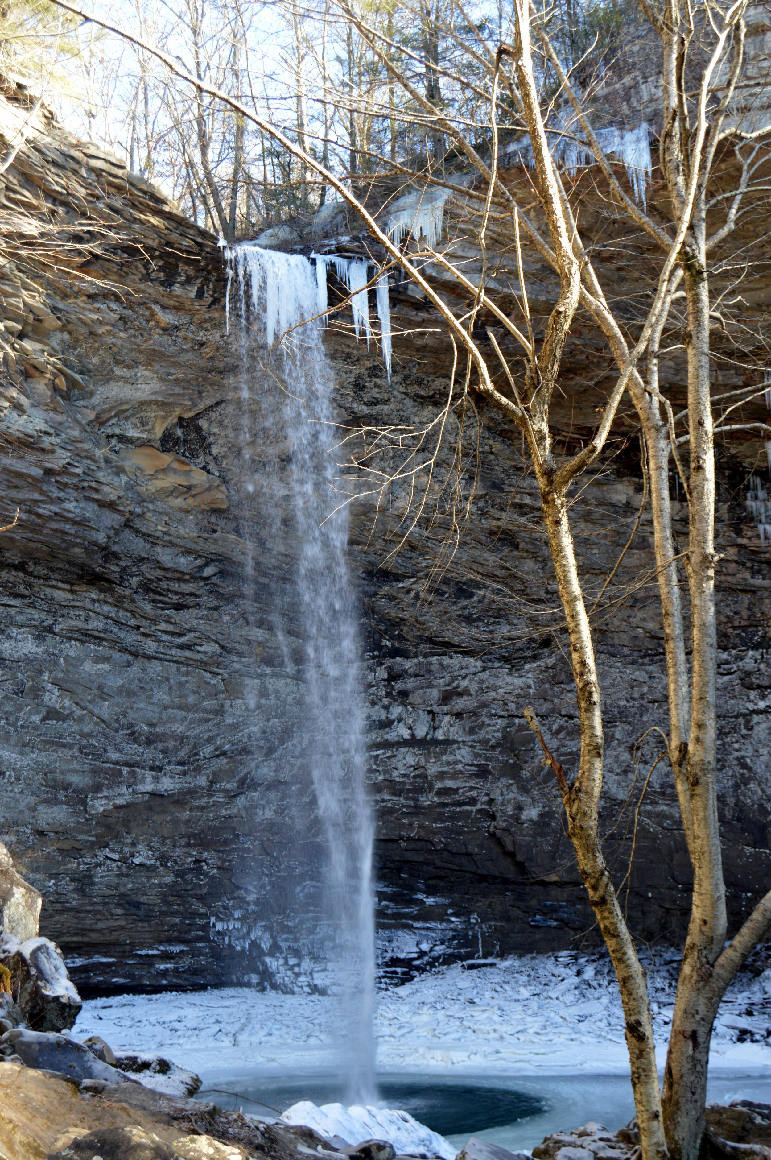 Ozone Falls in Cumberland County is just a few hundred yards down a rocky path from the parking lot on U.S. 70.