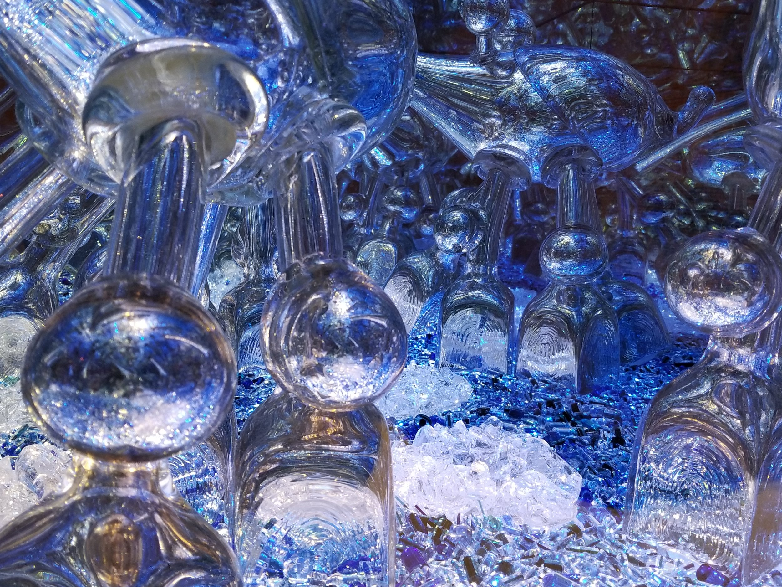"""An interesting piece of art made with glass and mirrors. You will find it in the """"Currents"""" section of KMA."""