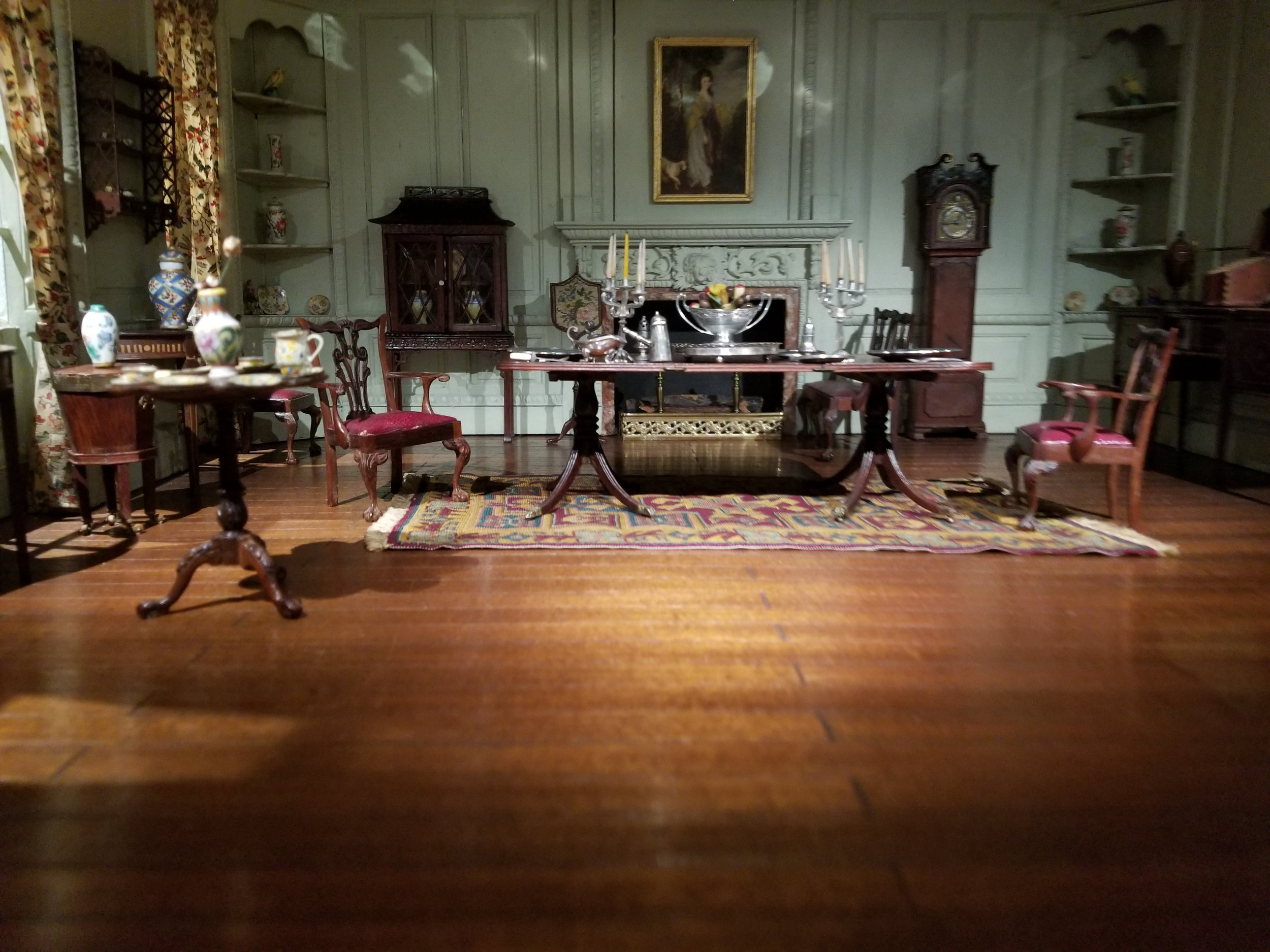 Part of the collection in the Thorne Rooms.