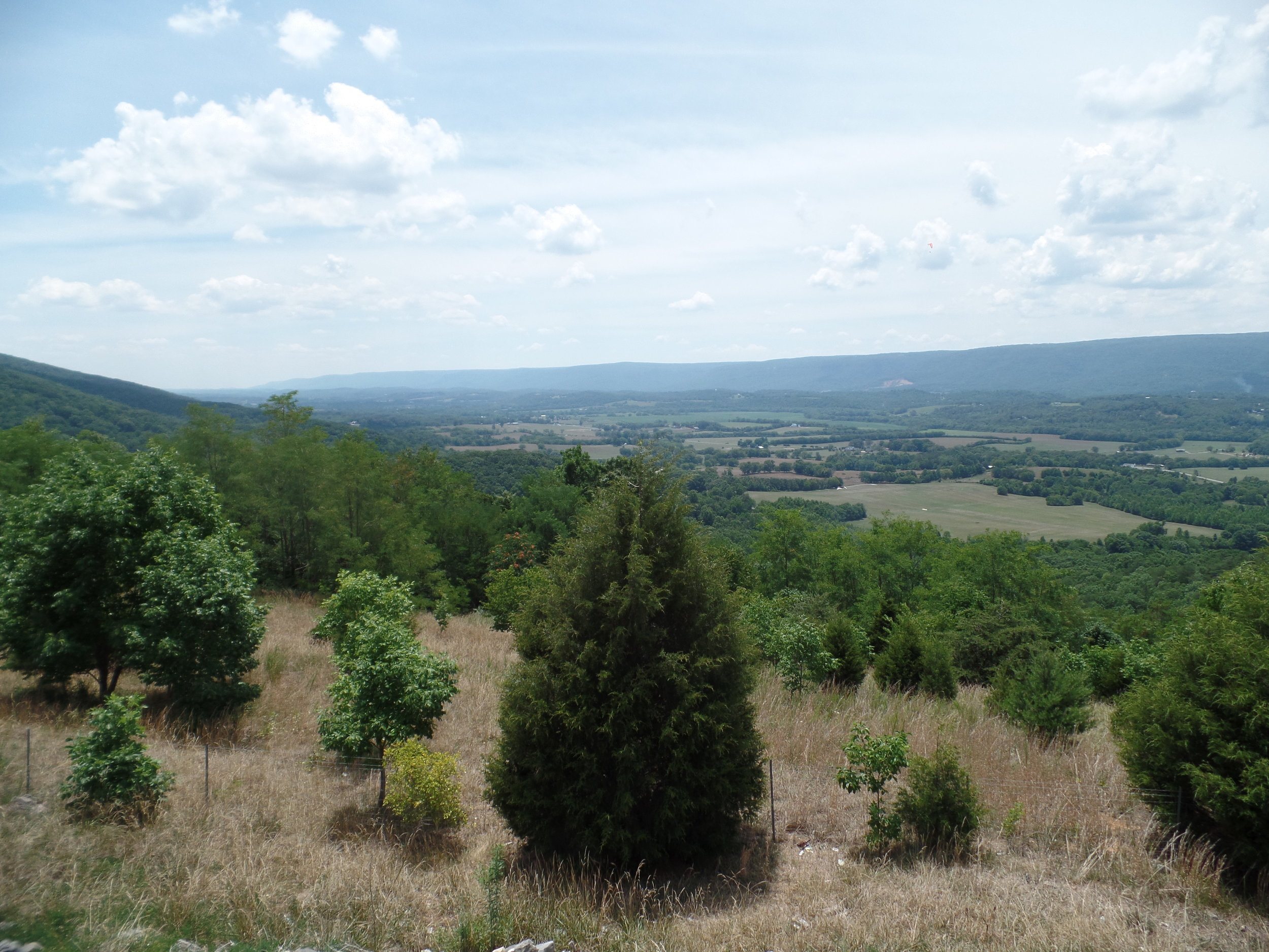 The overlook along TN 111 near Dunlap provides a stunning view of the Sequatchie Valley.