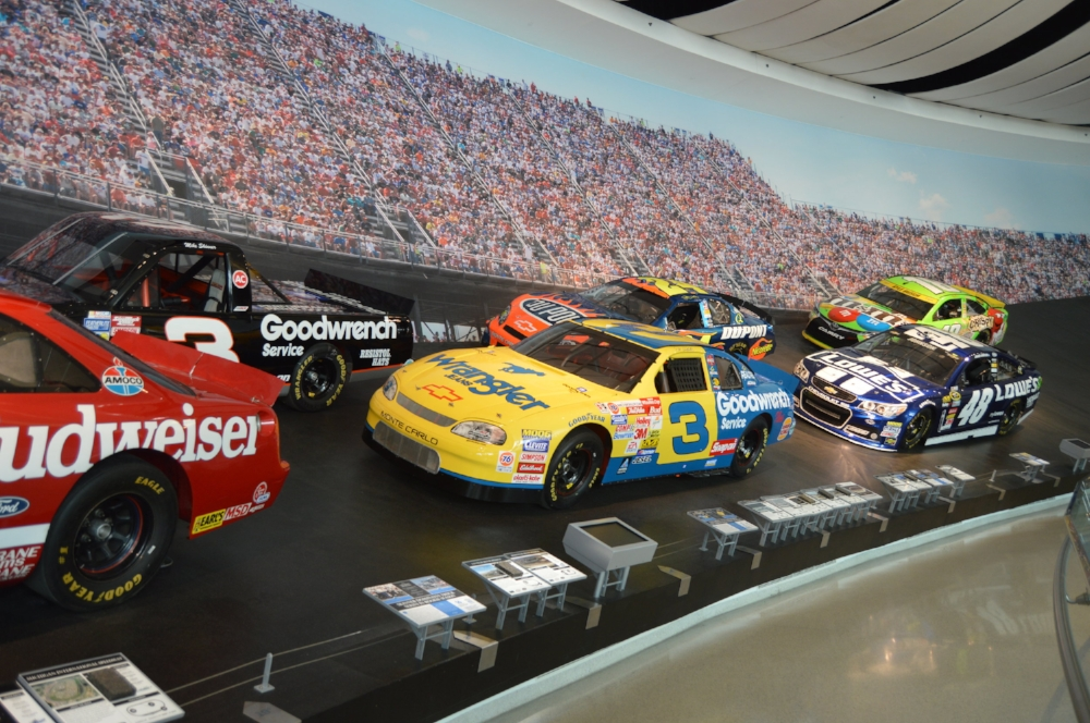 Glory Road is the largest exhibit at the NASCAR Hall of Fame in Charlotte.