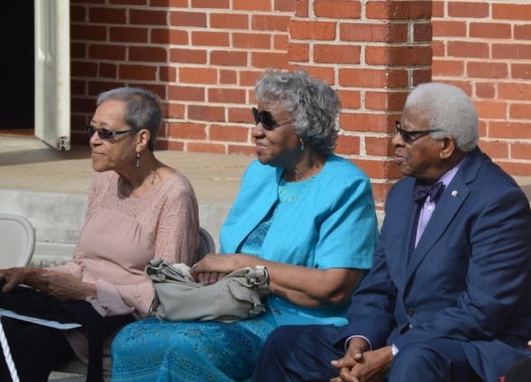 Jo Ann Boyce, Minnie Ann Dickie Jones and Bobby Cain attend a ribbon cutting on August 25th at the Green McAdoo Center in Clinton, TN as the museum becomes part of the Tennessee State Museum system.