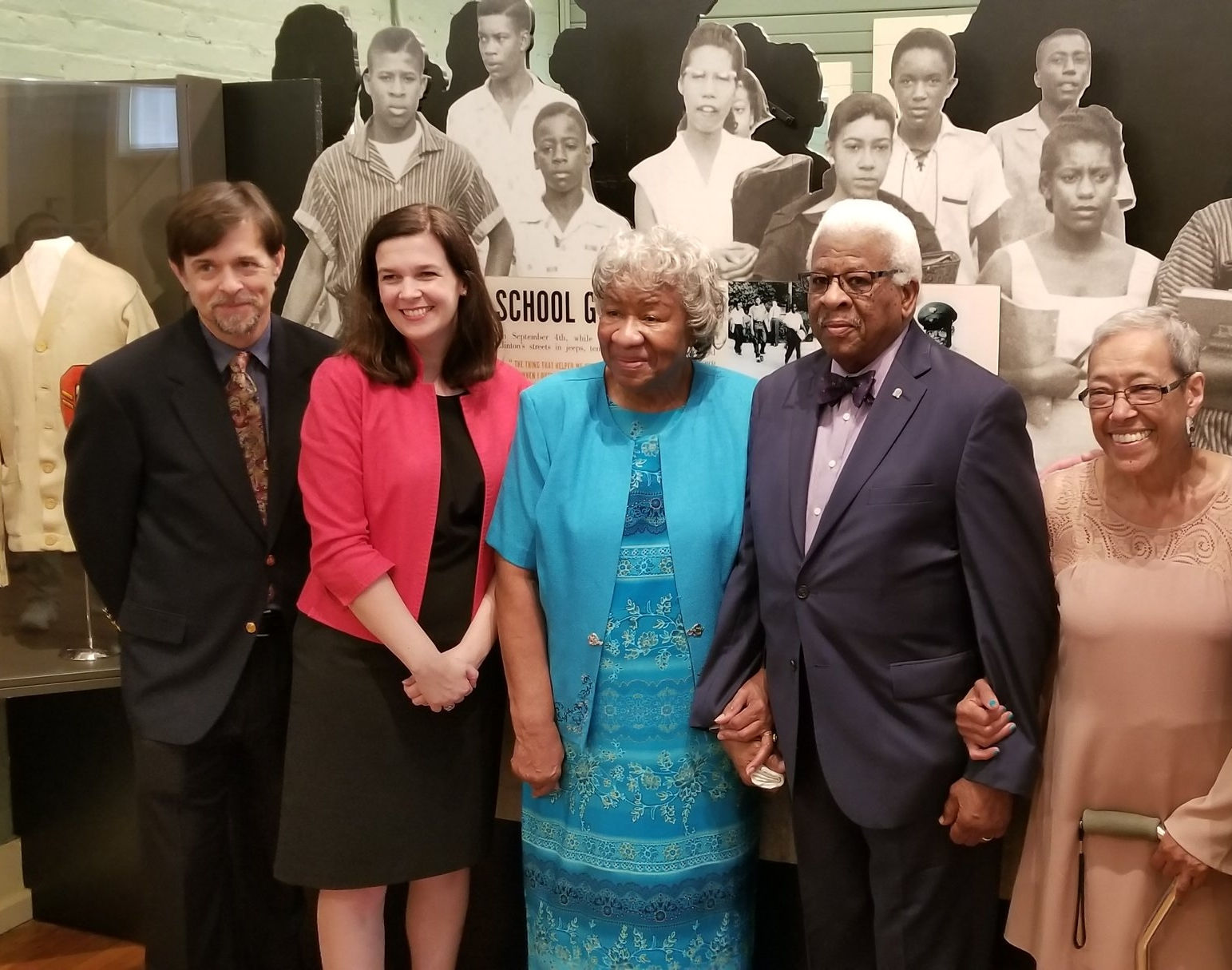 Representatives from the Tennessee State Museum join members of the Clinton 12 for a picture inside the museum at Green McAdoo Cultural Center.