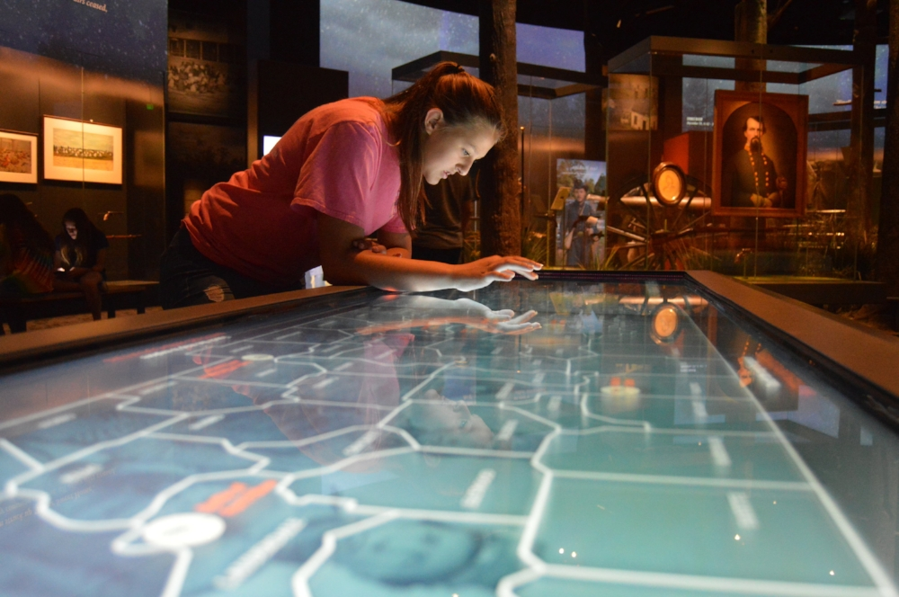 Interactive exhibit at the Tennessee State Museum