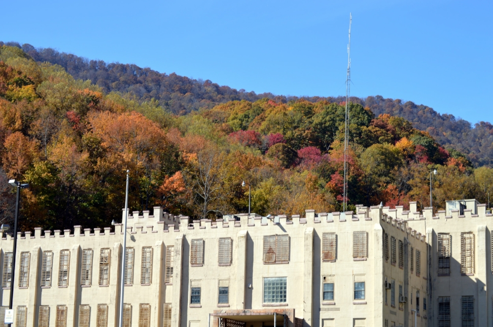 Brushy Mountain State Penitentiary in Petros, TN is now home to a museum, restaurant, and moonshine distillery.
