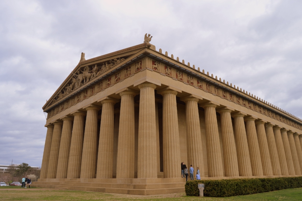 The Parthenon in Nashville was built as part of the state's Centennial Exposition held in Nashville in 1897, a year after the state's 100th birthday.