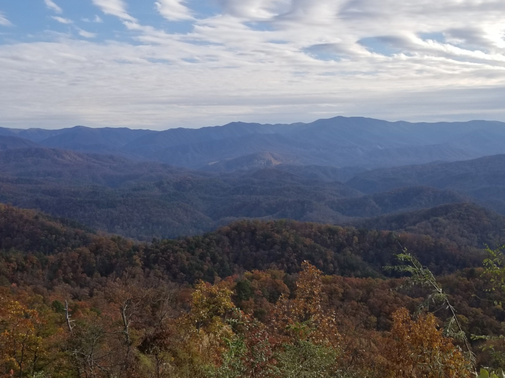 Overlook into Townsend Foothills Parkway