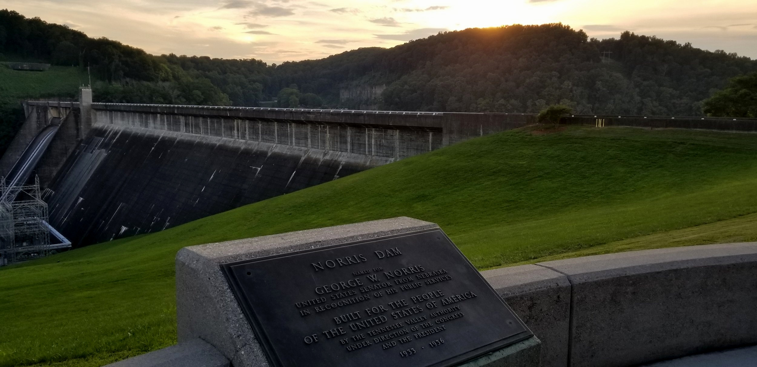 Norris Dam was the first built by the Tennessee Valley Authority as part of the New Deal.. Today, hundreds of acres on both sides of the dam form Norris Dam State Park, a place known for its rustic setting, history and recreational opportunities.