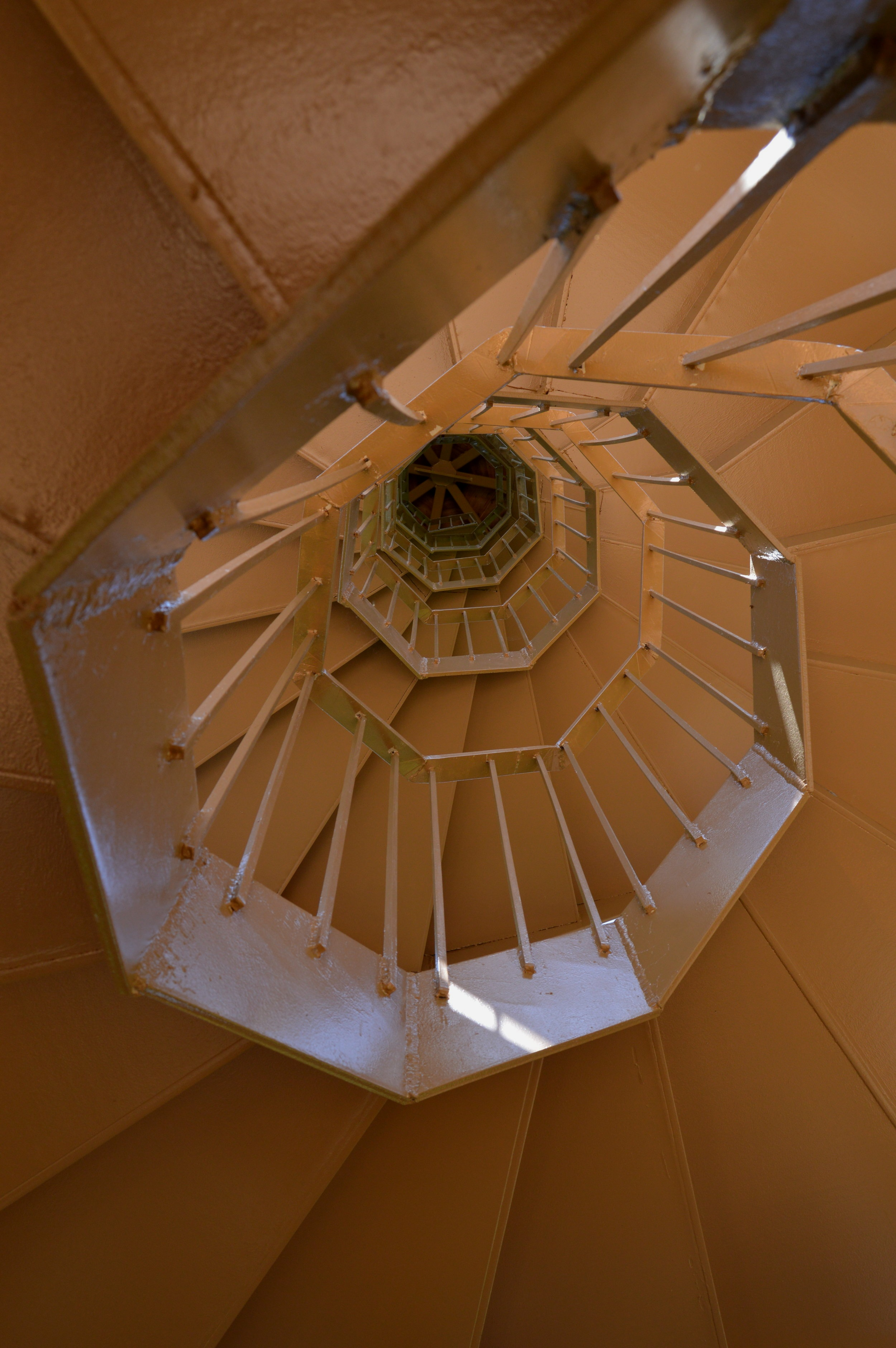 Spiral staircase at Edgar Evins State Park Observation Tower