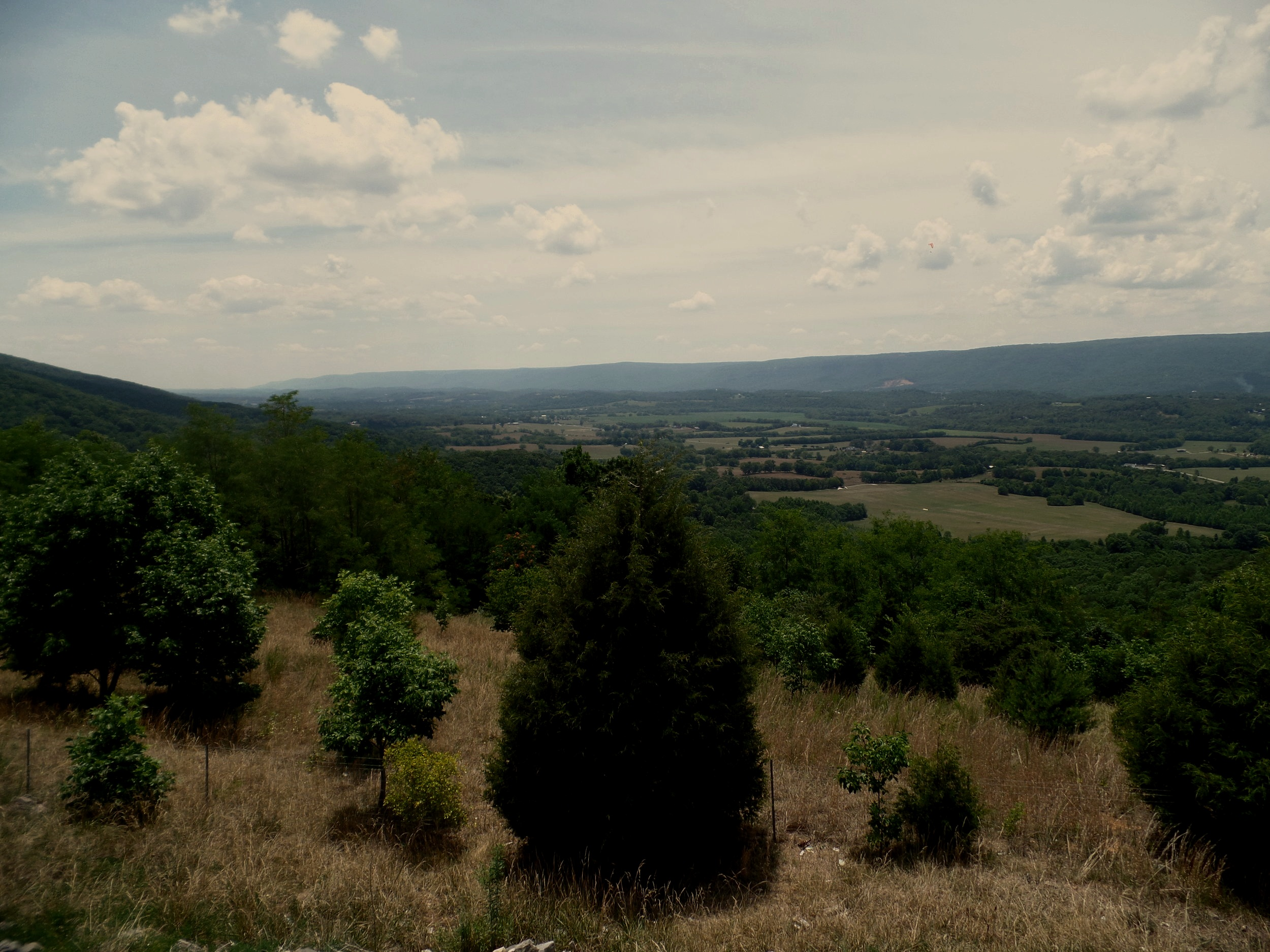Just above Dunlap on Highway 111, an overlook gives you a sweeping view of the Sequatchie Valley. If you time your visit there right, you'll get to see hangliders coming off the mountain heading for the valley floor.
