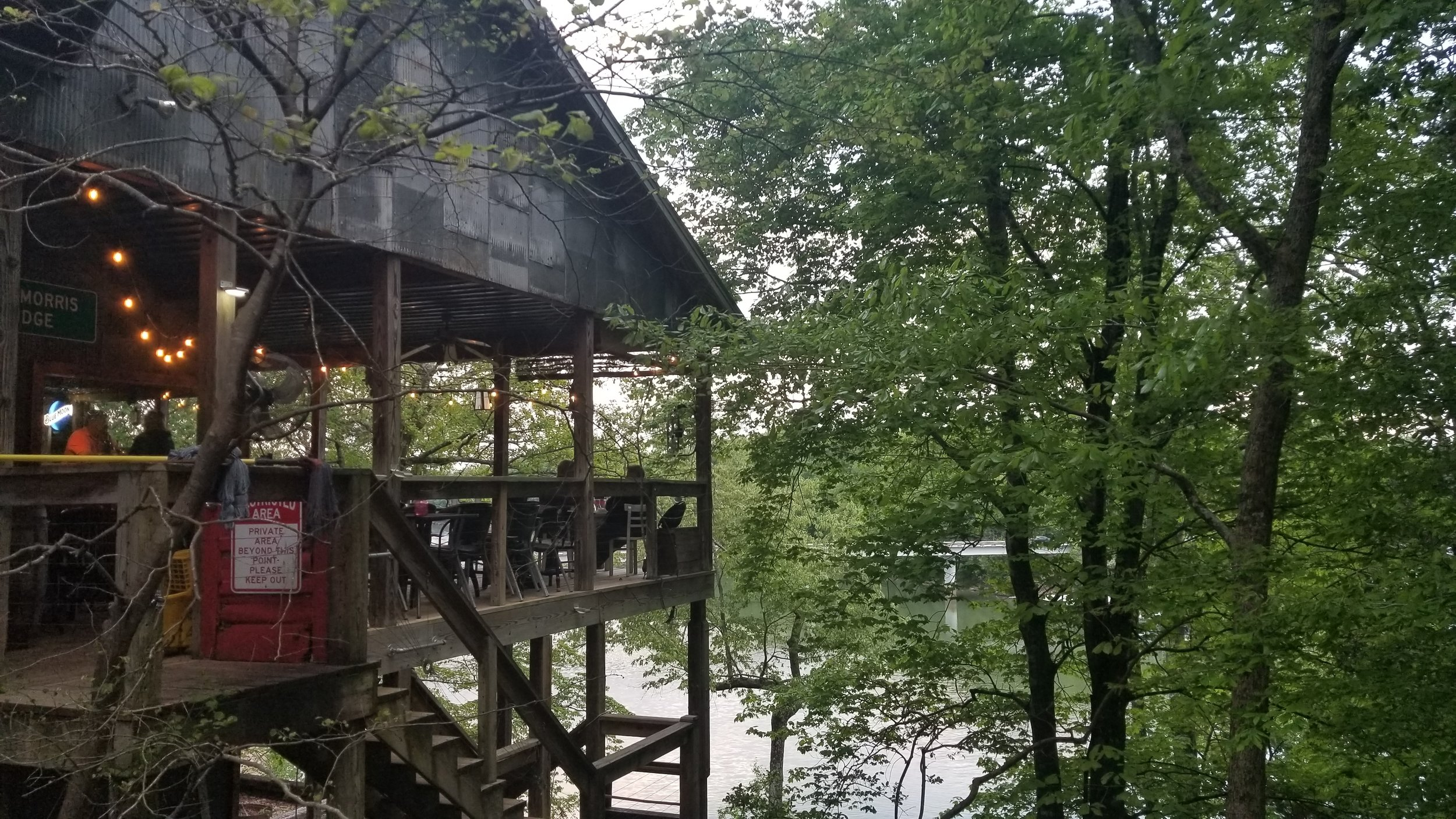 The Foglight Foodhouse near Rock Island State Park overlooks the river. The restaurant is known for its unique atmosphere, cajun food and creative culinary creations.